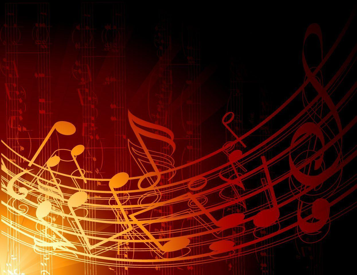Abstract Orange Music Backgrounds