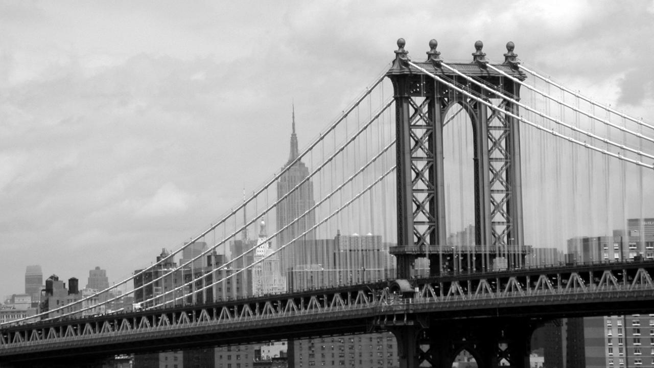 Manhattan Bridge New York Architecture hd wallpapers #