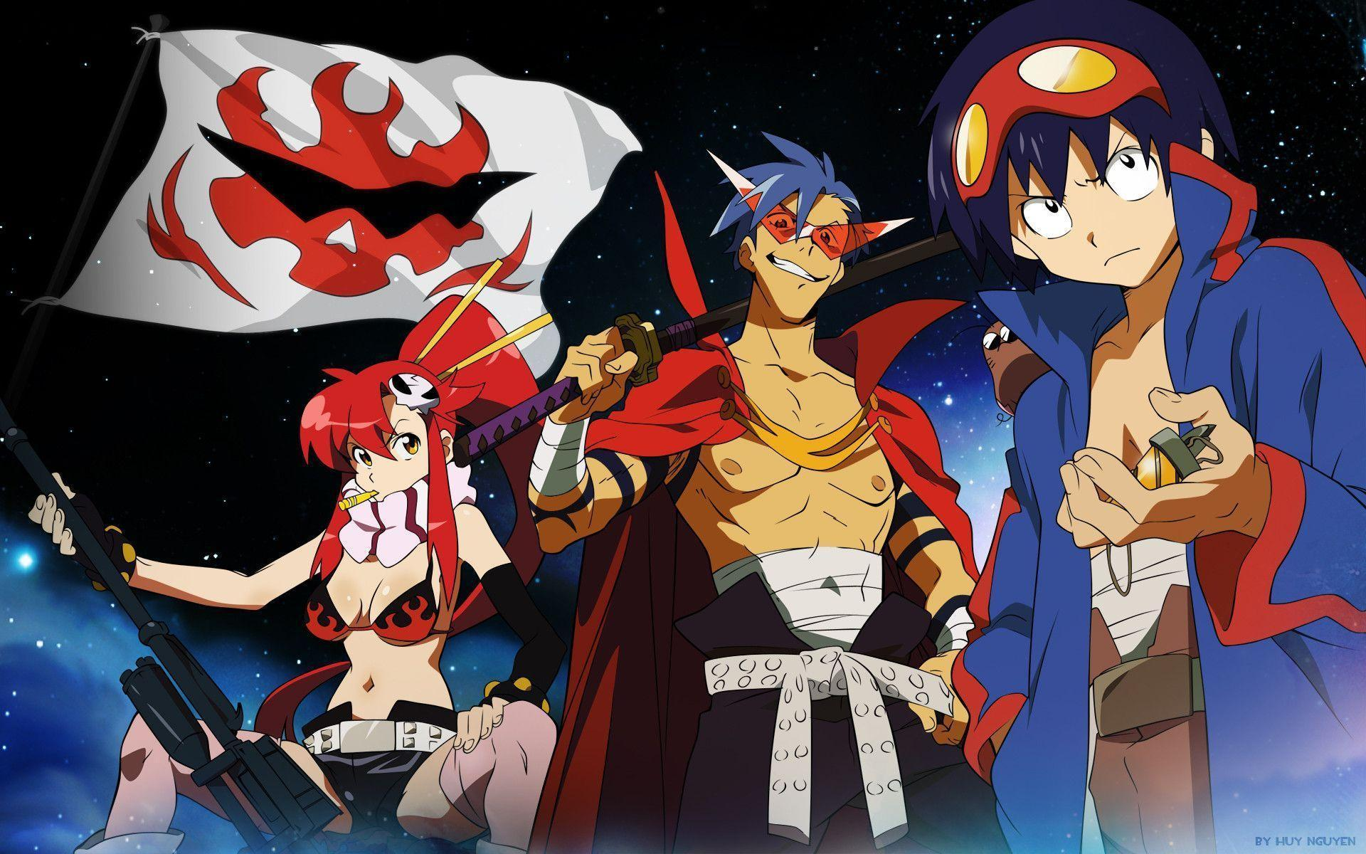 Gurren Lagann Backgrounds - Wallpaper Cave Fairy Tail Simon