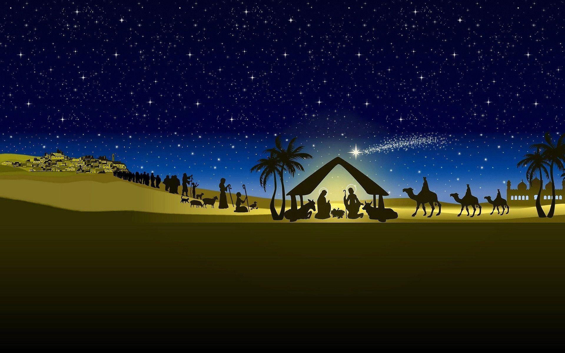 Wallpapers For Merry Christmas Nativity Backgrounds