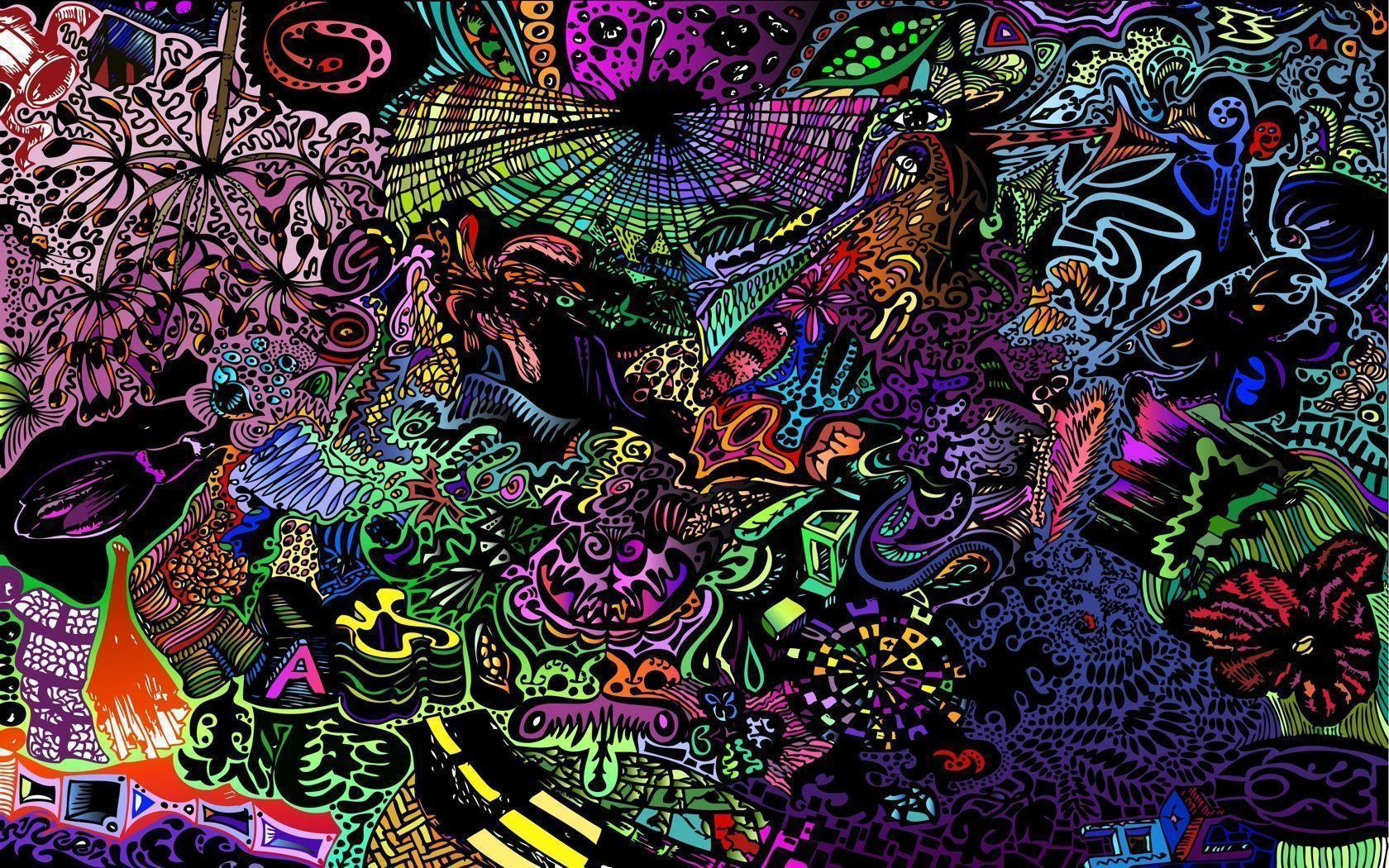 Trippy 3d wallpapers wallpaper cave - Trippy acid pics ...