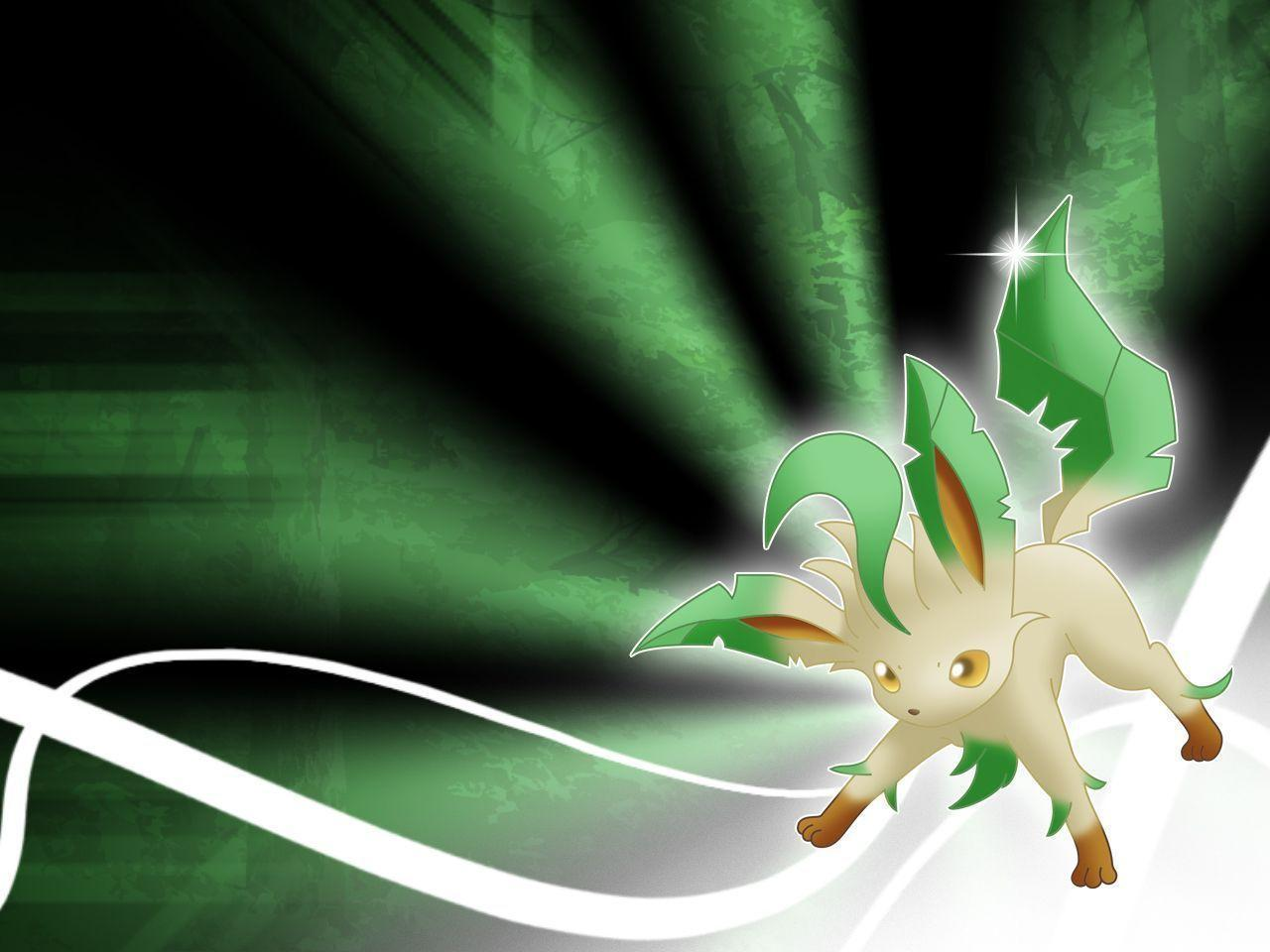 Leafeon and glaceon wallpaper