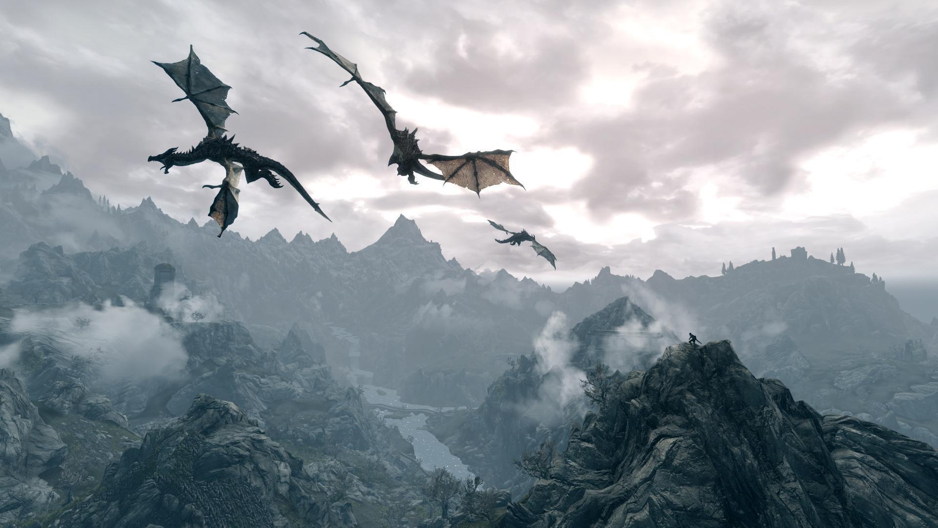 skyrim dragon wallpapers wallpaper cave
