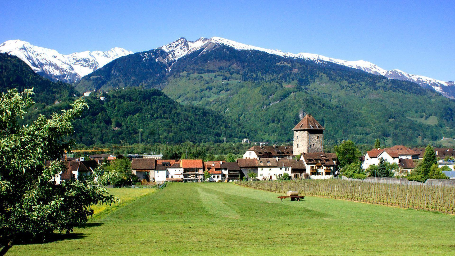 Swiss Alps Village wallpaper - 759376