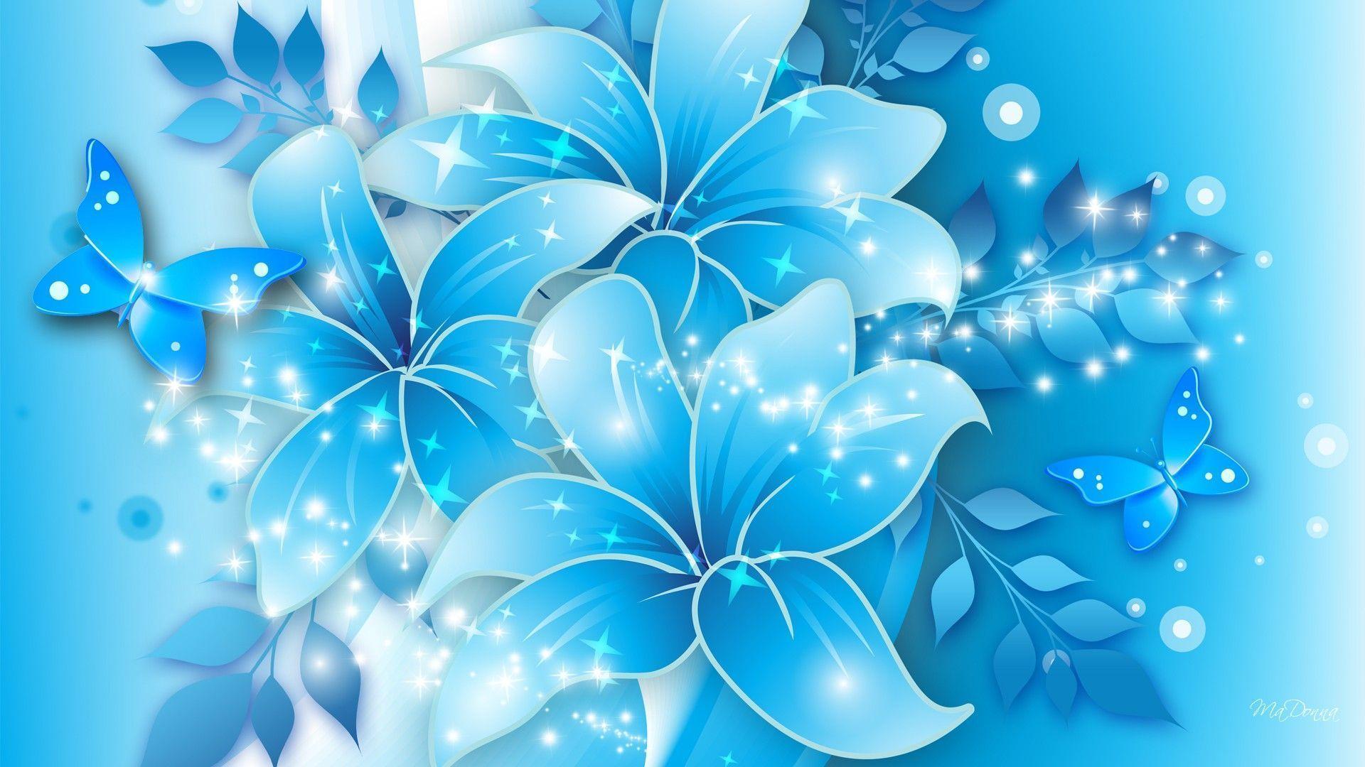 Blue Flowers Tumblr Background