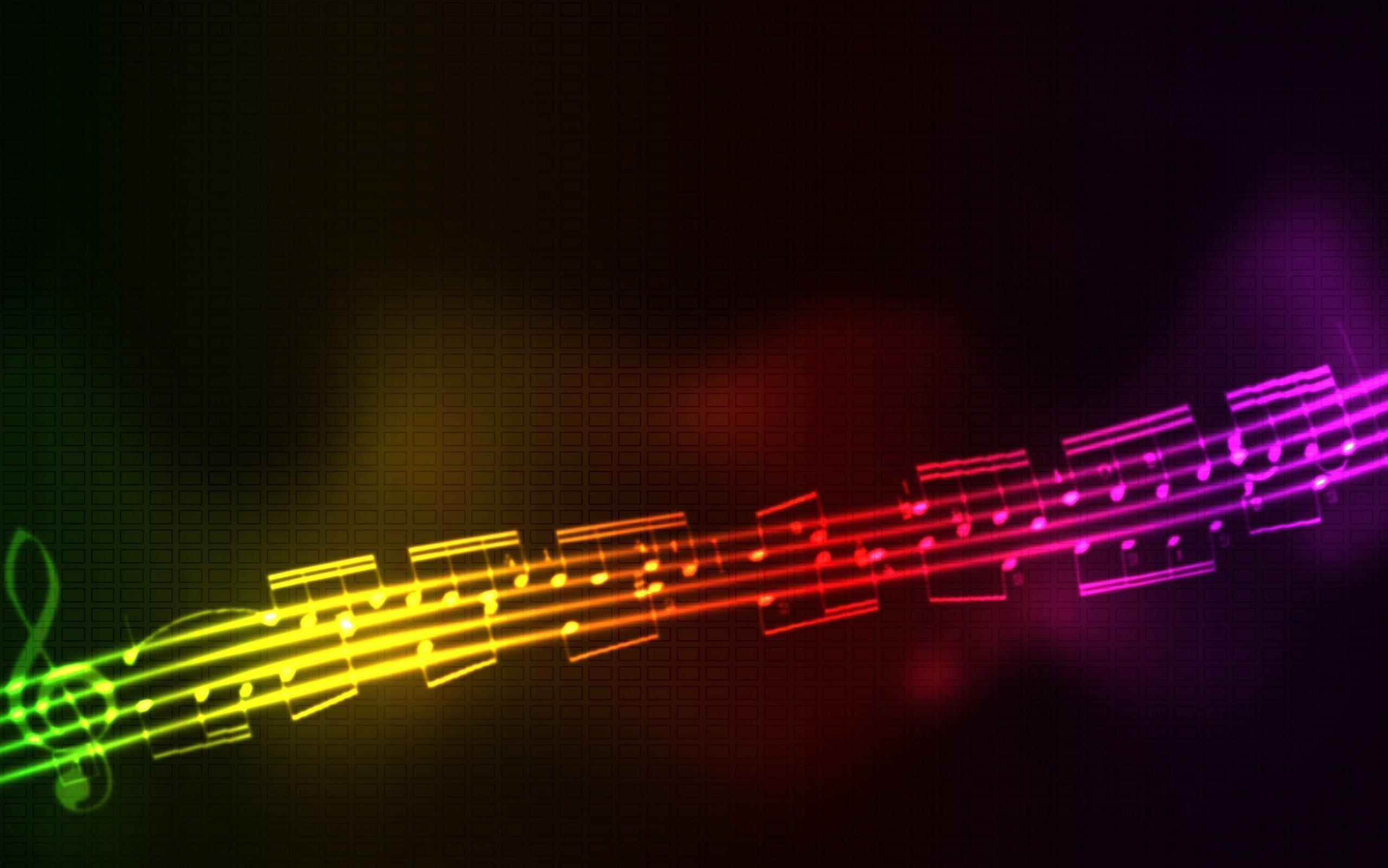 Abstract Music Multicolor Black Backgrounds