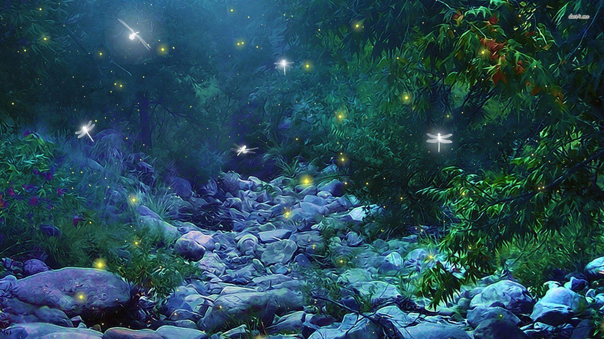 Fireflies in Woods wallpaper - Fantasy wallpapers - #
