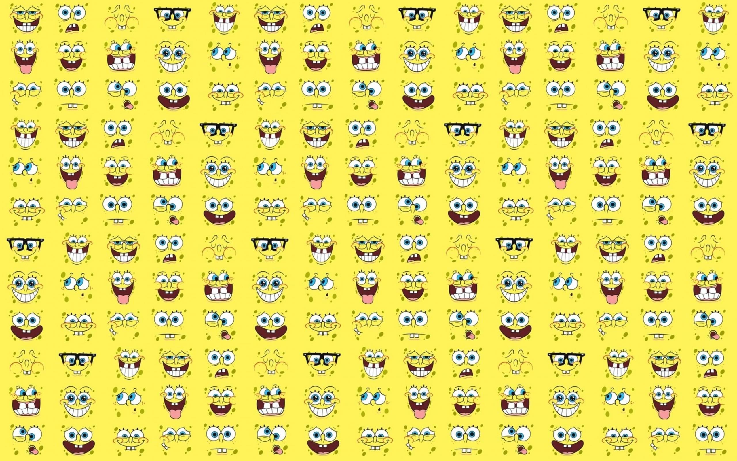 Spongebob Squarepants Faces Wallpaper « wallpafar.com