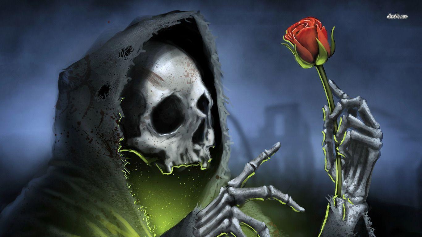 Dark Grim Reaper Wallpaper 1366x768 px Free Download .