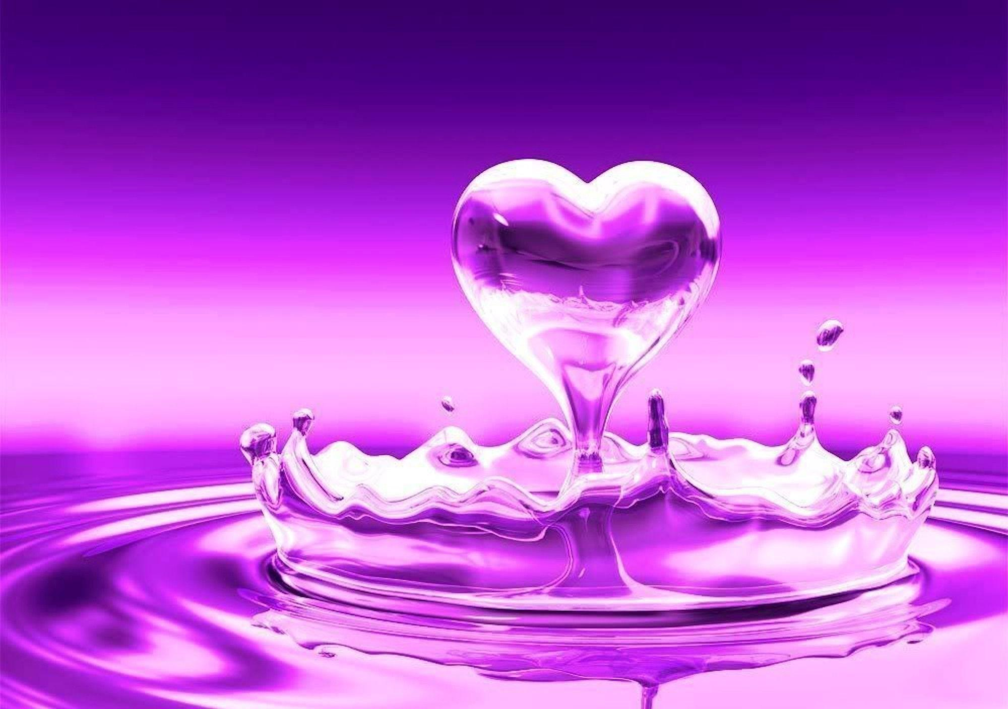 Love Heart Wallpaper Background : Purple Heart Wallpapers - Wallpaper cave