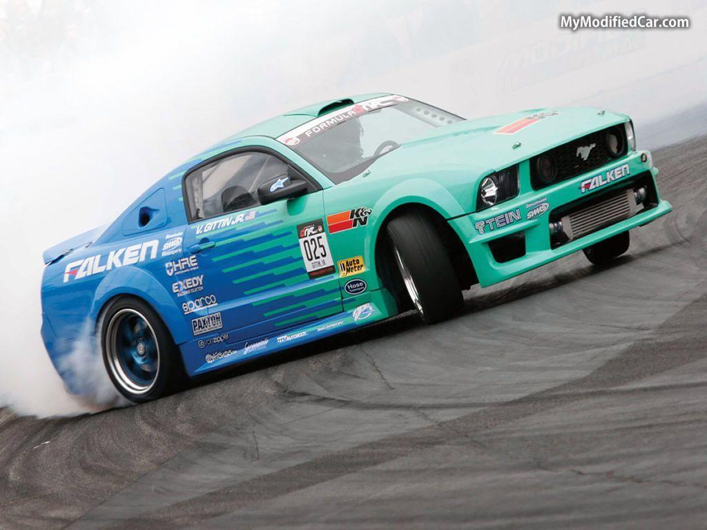 Formula Drift Wallpaper - Falken Ford Mustang | MyModifiedCar.