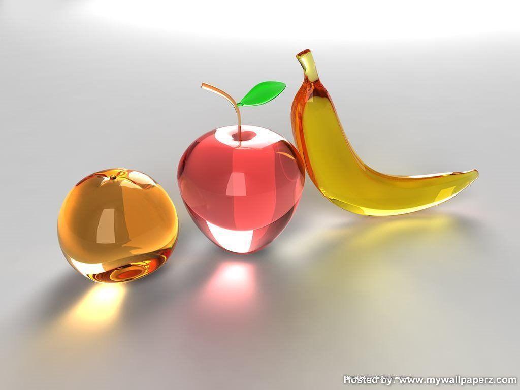 Fruit apple wallpaper - Glass Apples Wallpaper Fruit Wide Wallpapers 1024x768px 3d Apple