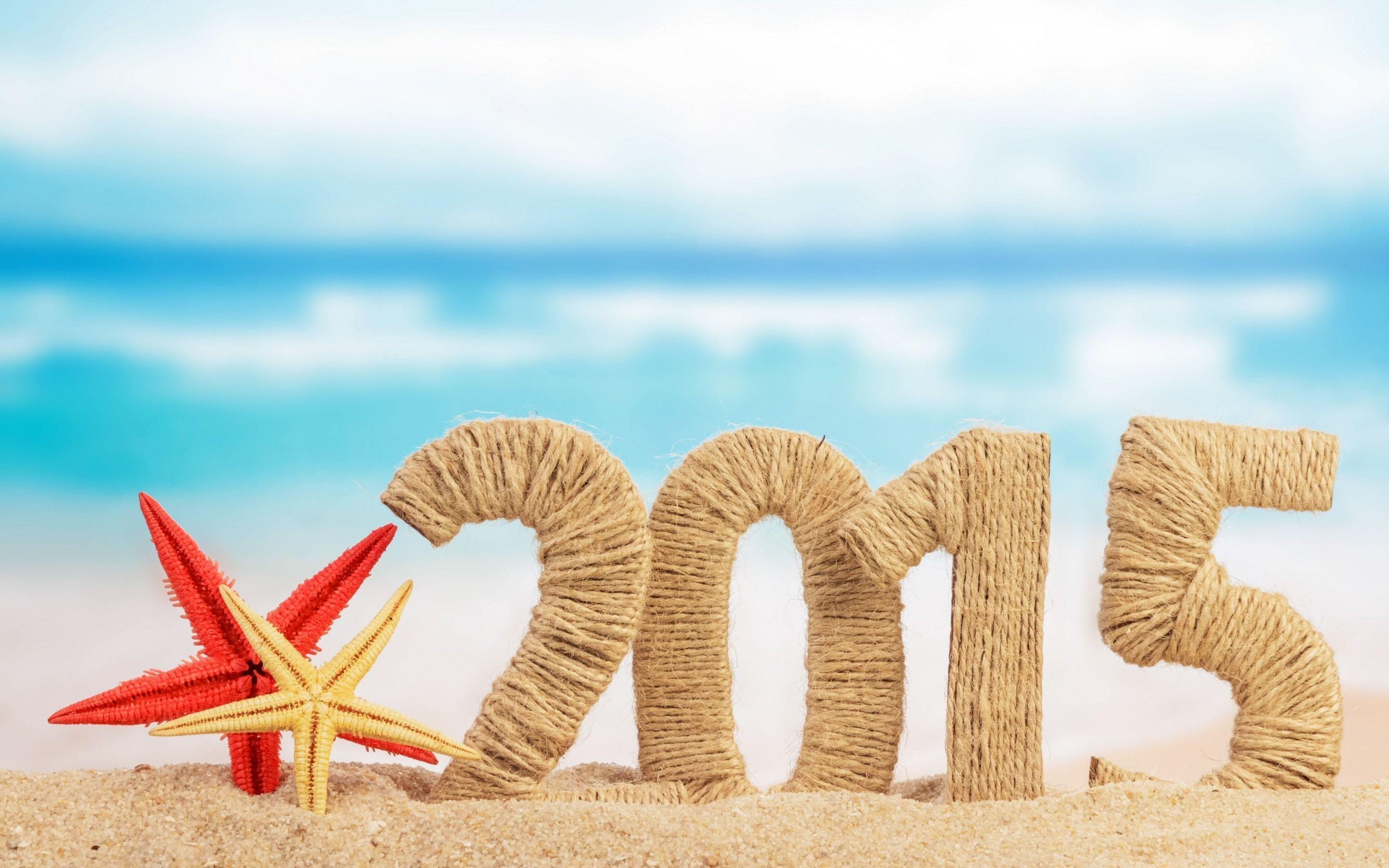 Happy New Year 2015 Best Wallpaper Summer Beac