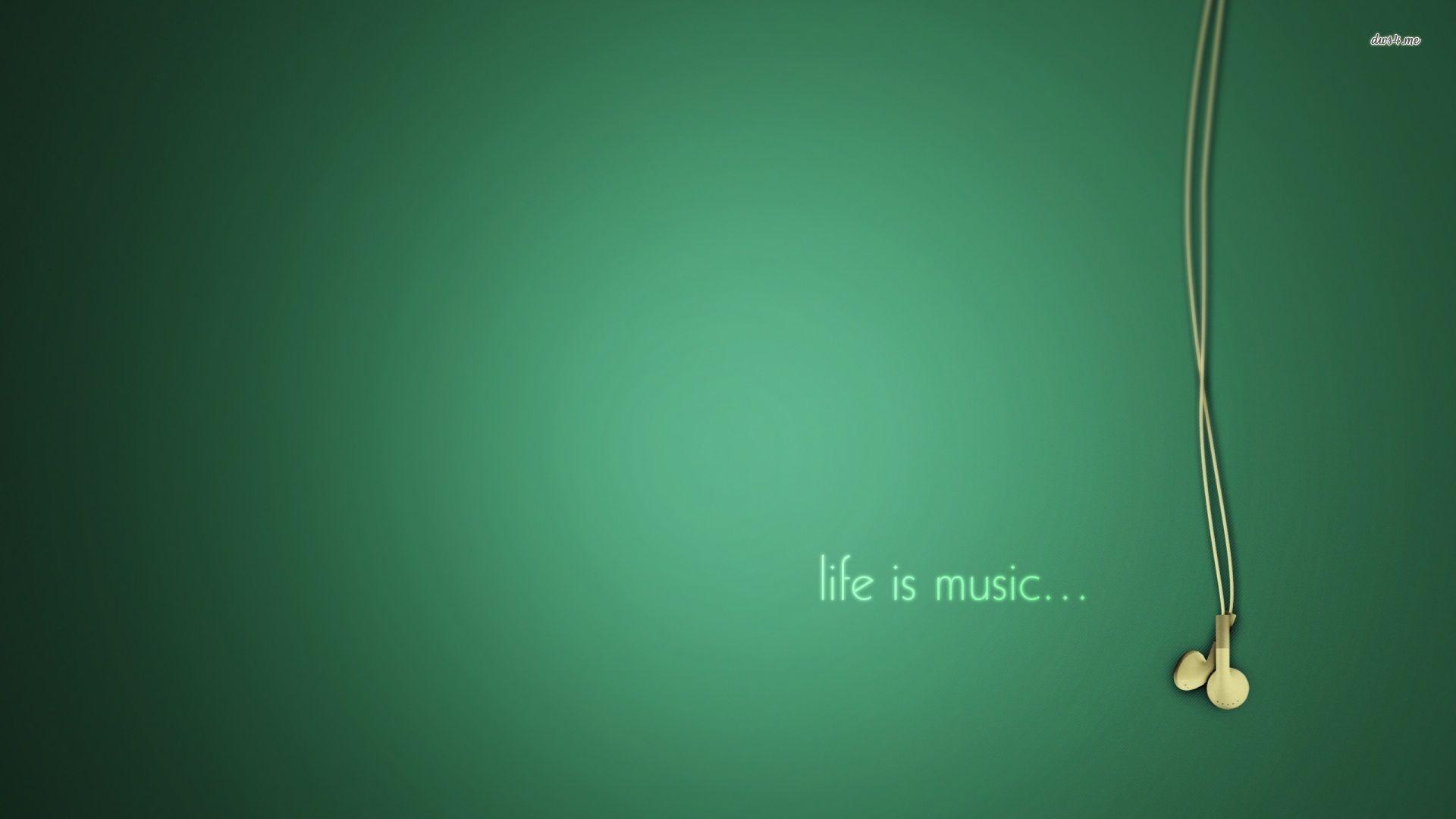 Music is my life wallpapers wallpaper cave for Big wallpaper for wall