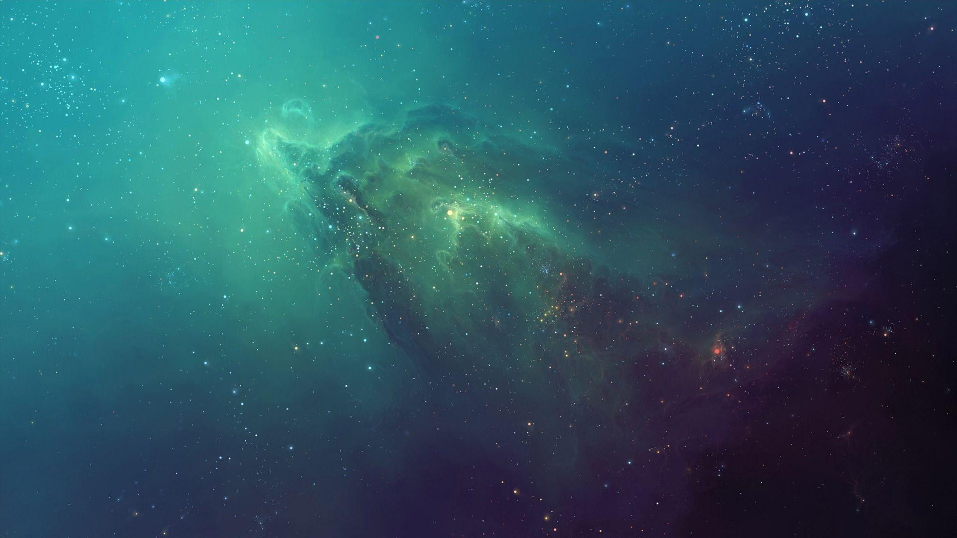 teal space nebula - photo #21