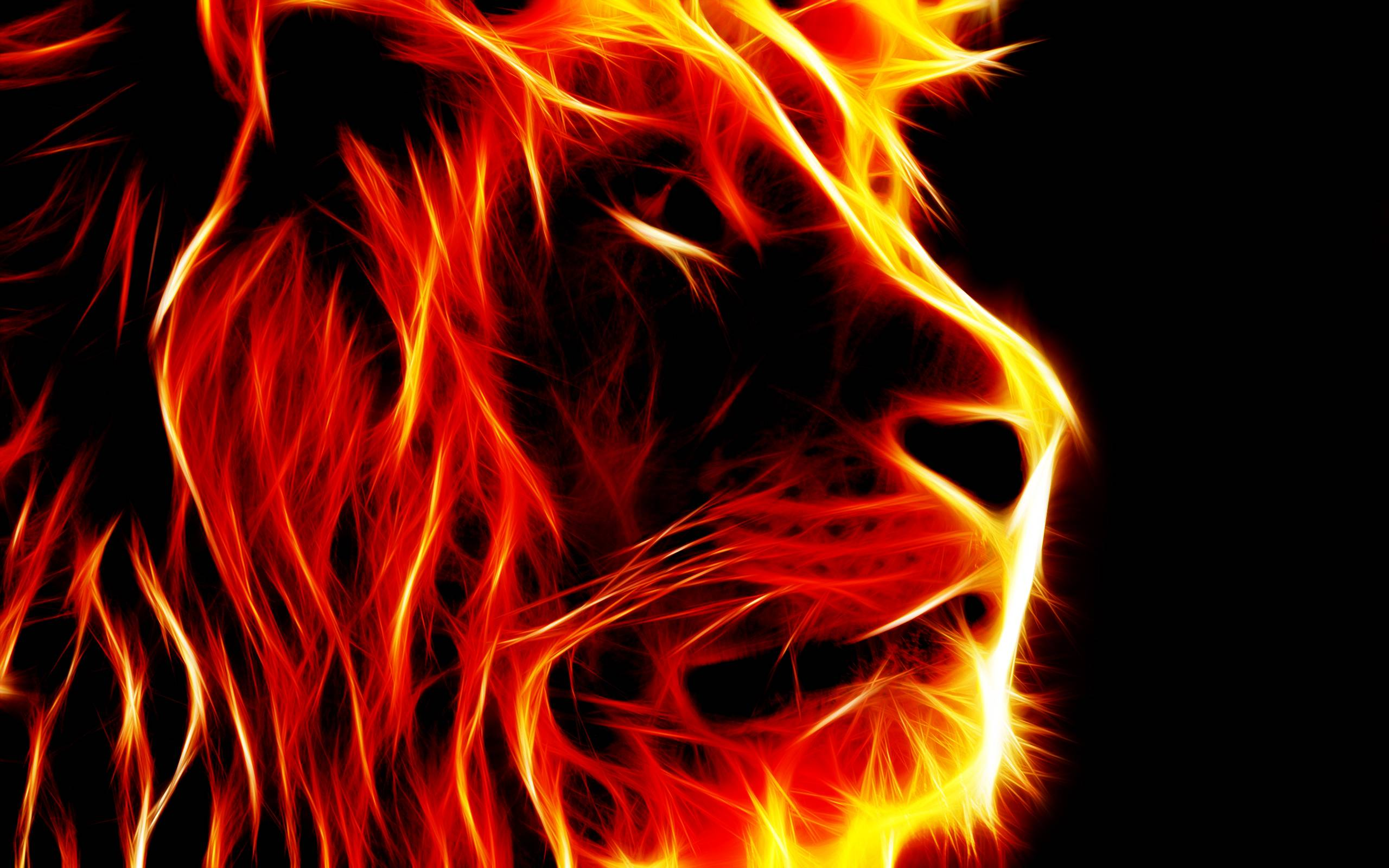 Images For 3d Lion Fire Wallpapers