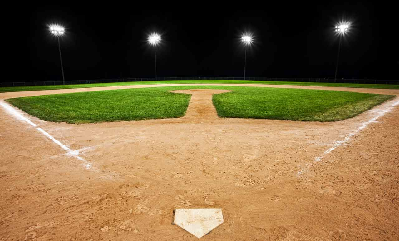 Baseball Field Background At Night