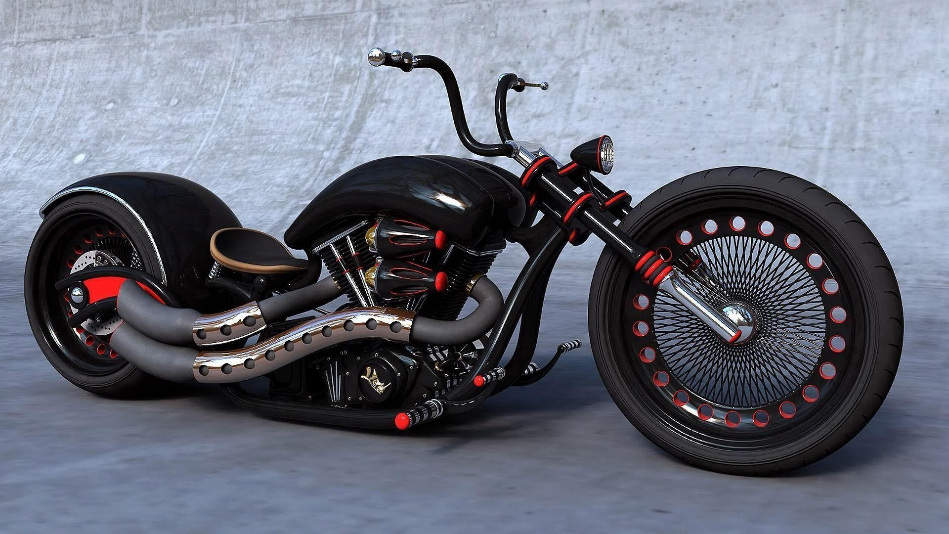 Black Custom Chopper Wallpapers Download Free Widescreen HD