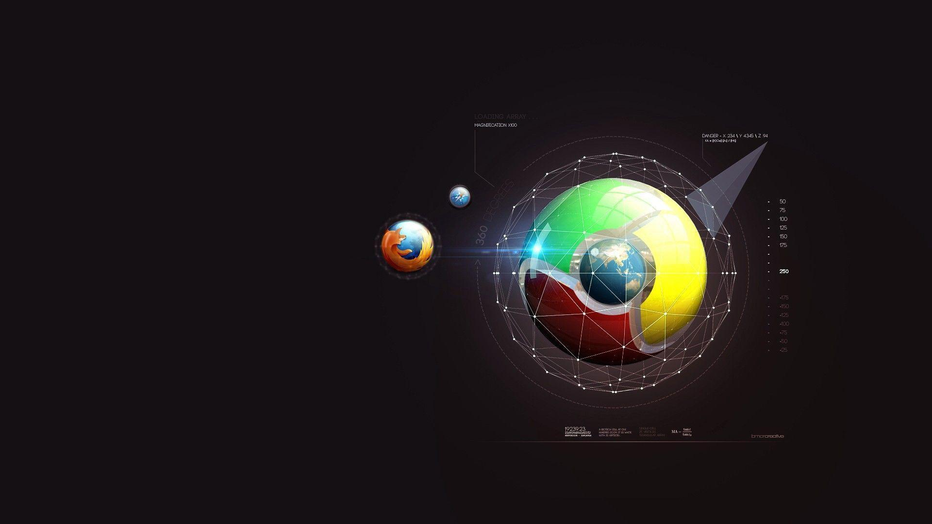 Firefox и Google chrome wallpapers and image