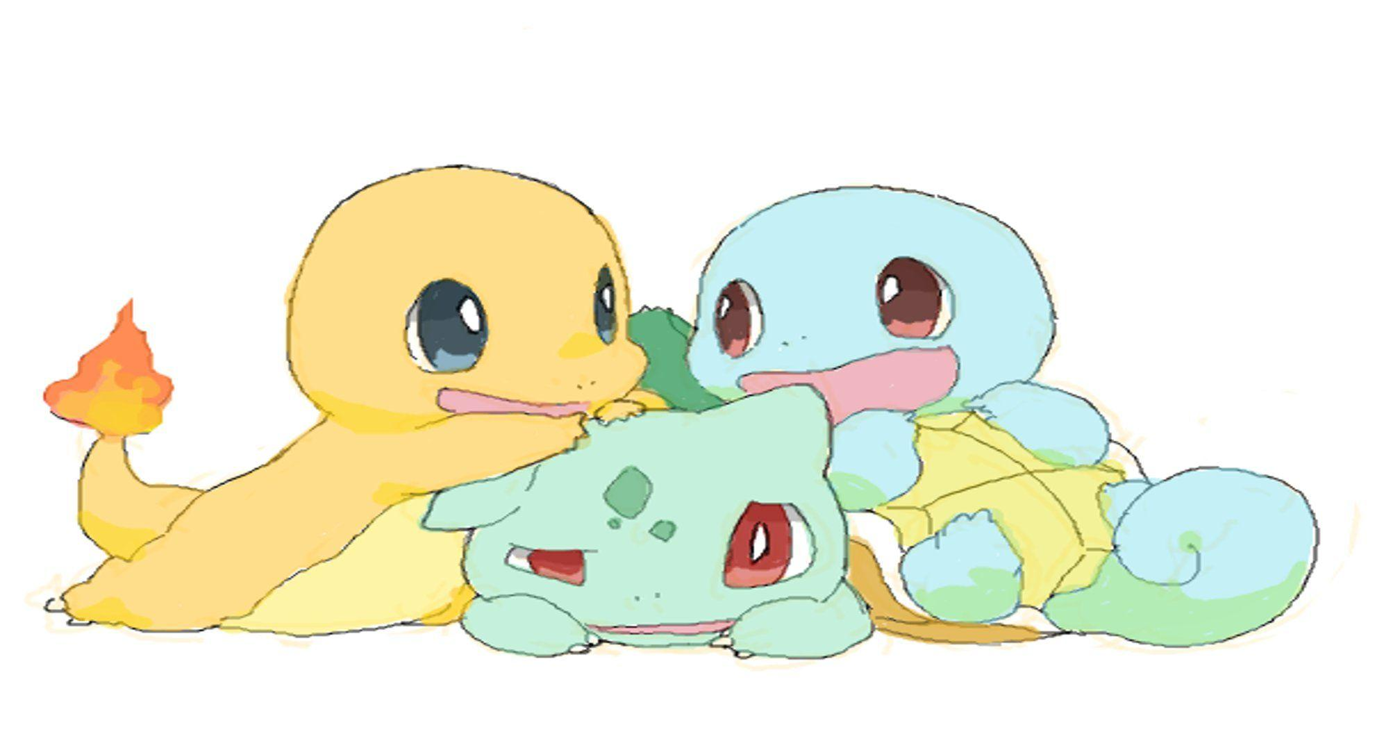 And Squirtle Bulbasaur Charmander Cute Pokemon Squirtle Wallpapers