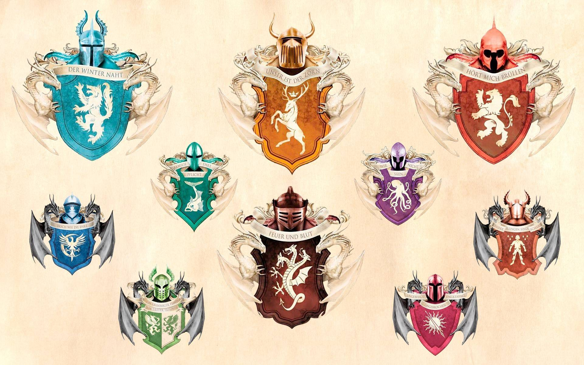 The Houses from A Song of Ice and Fire
