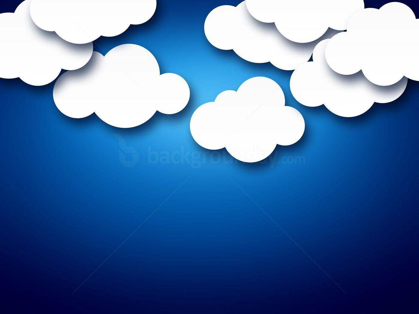 Cartoon clouds backgrounds