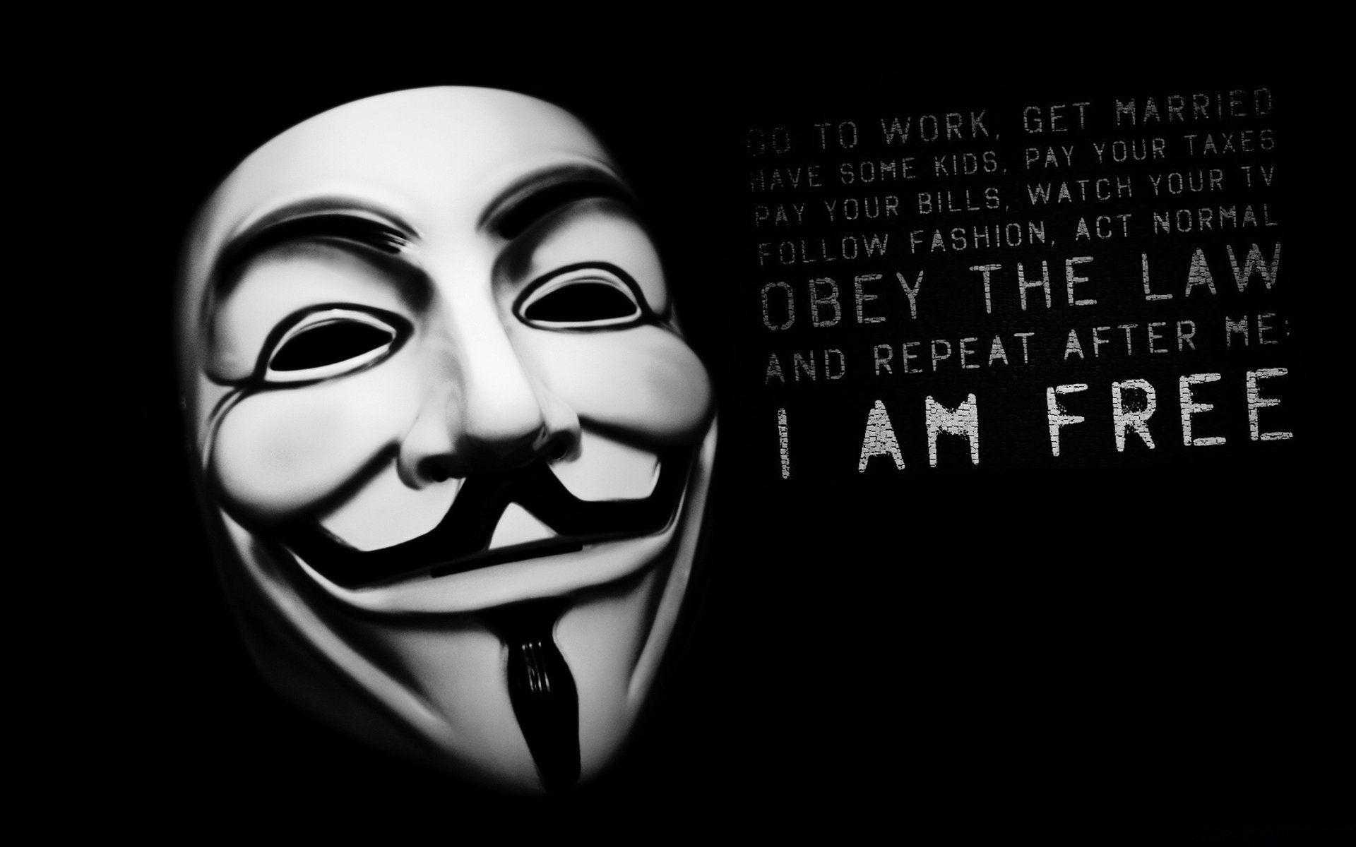 V For Vendetta Mask Wallpaper Quotes Anonymous Wallp...