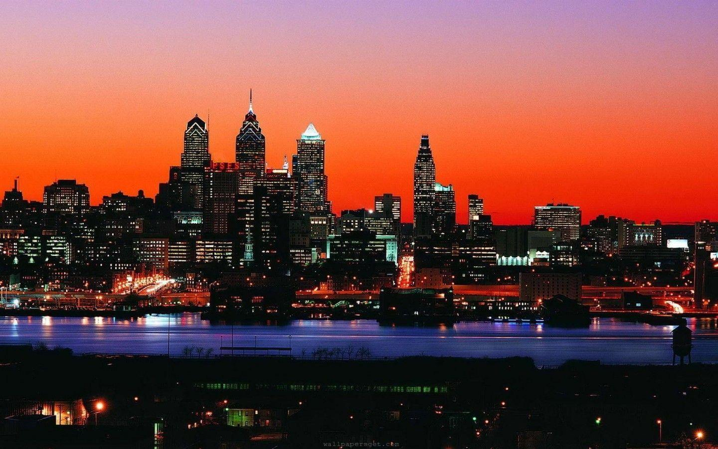 philadelphia usa skyline Wallpapers 1440x900