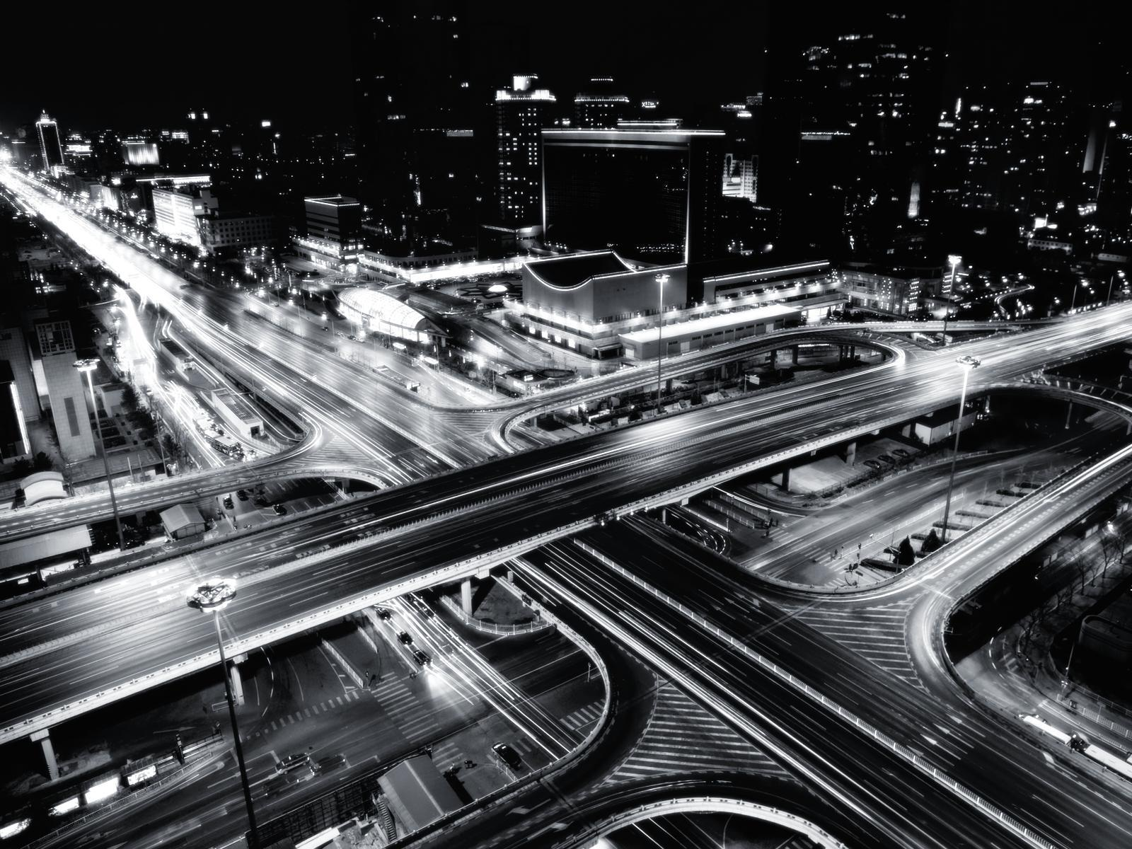 Black and White City Freeway wallpapers – We All Deserve What We