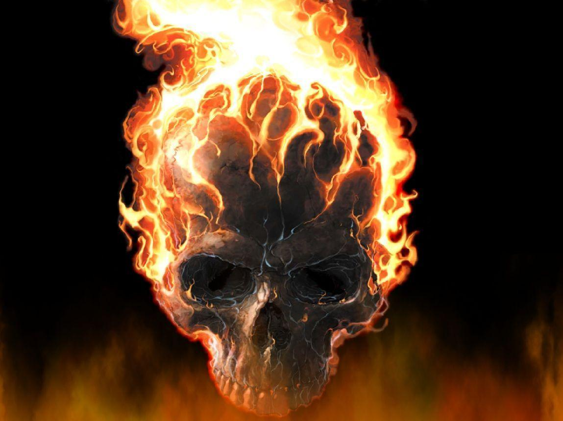 cool wallpaper fire skull - photo #14