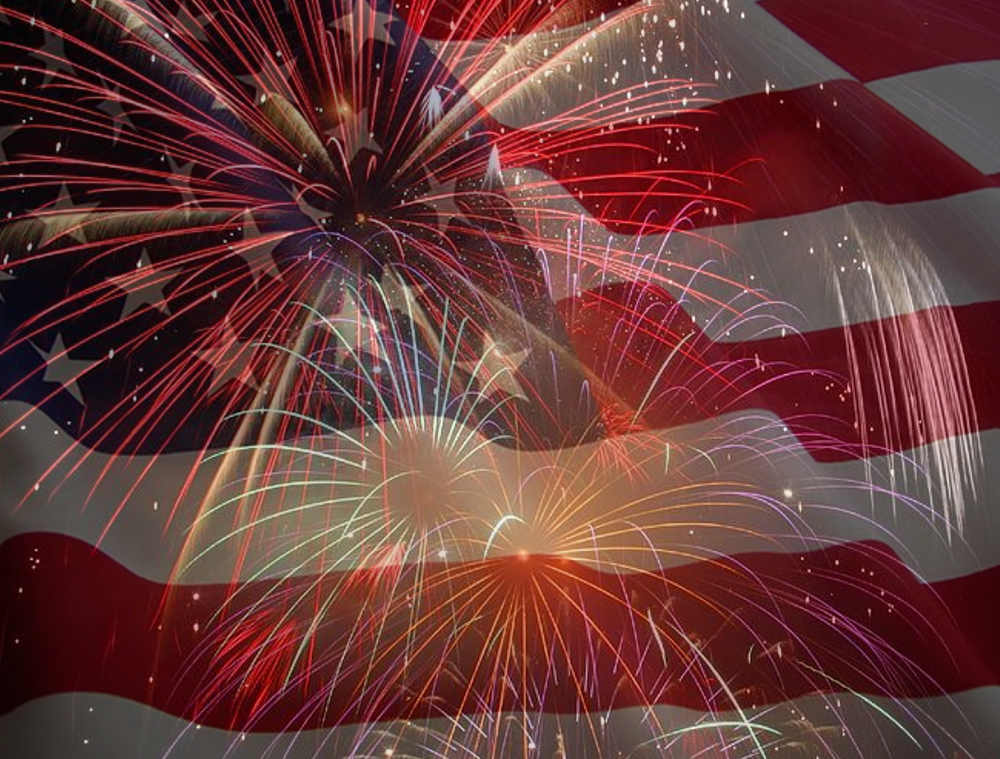 Free July 4 Collage Flag And Fireworks Background | Twitter ...