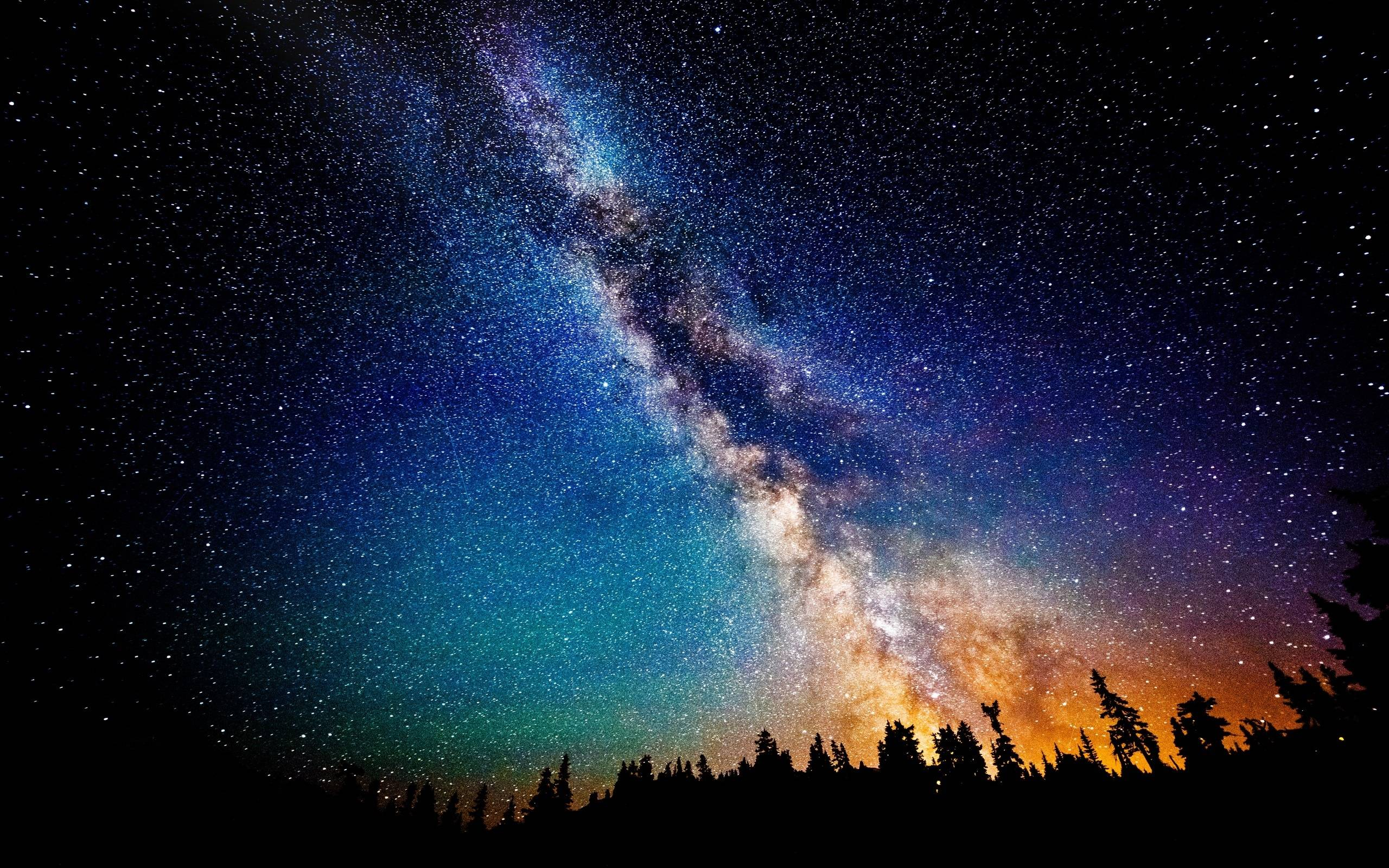 Night Milky Way Galaxy Wallpaper Wide or HD | Photography Wallpapers