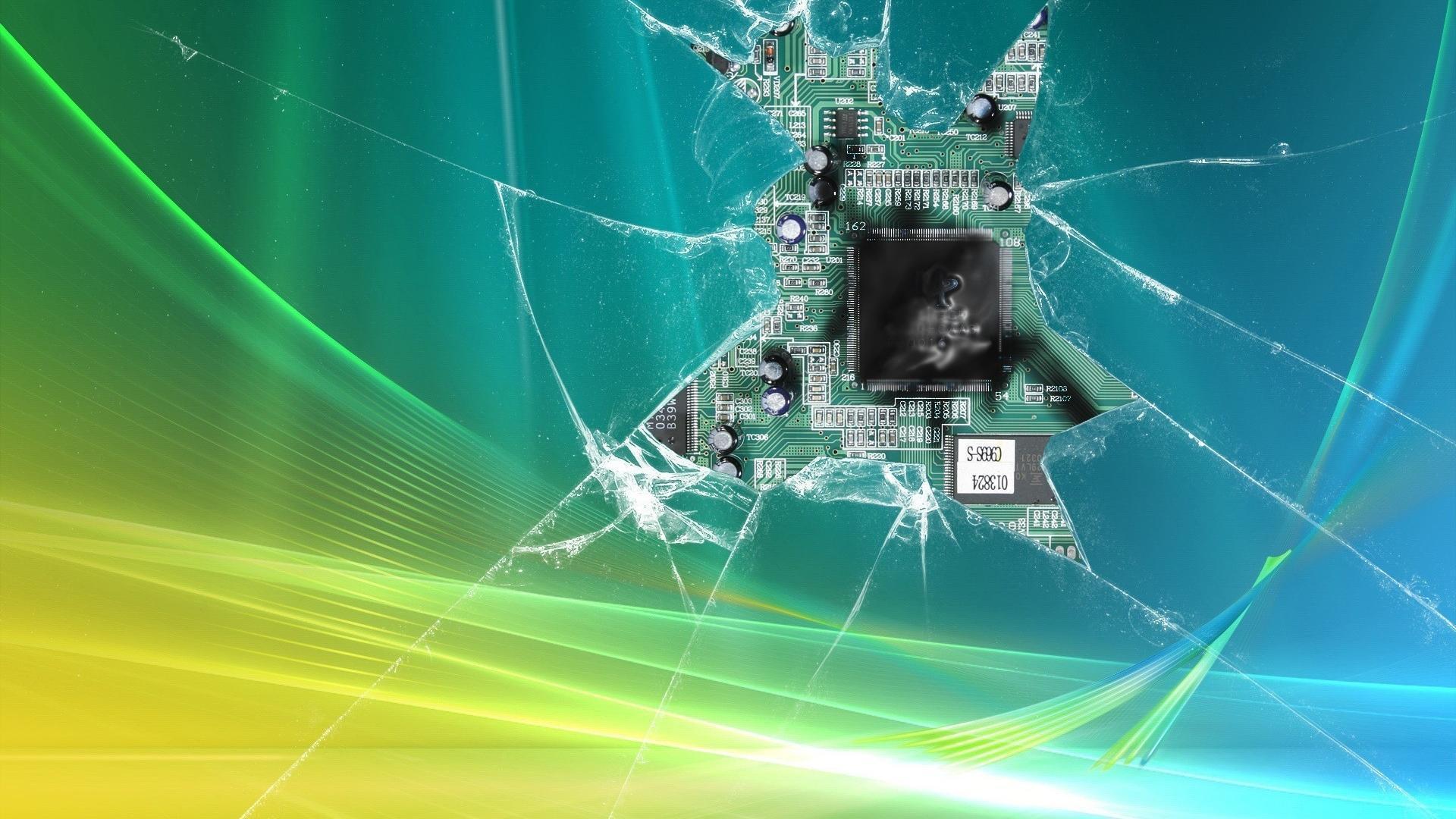 Broken screen backgrounds wallpaper cave for Bureau 3d windows 10