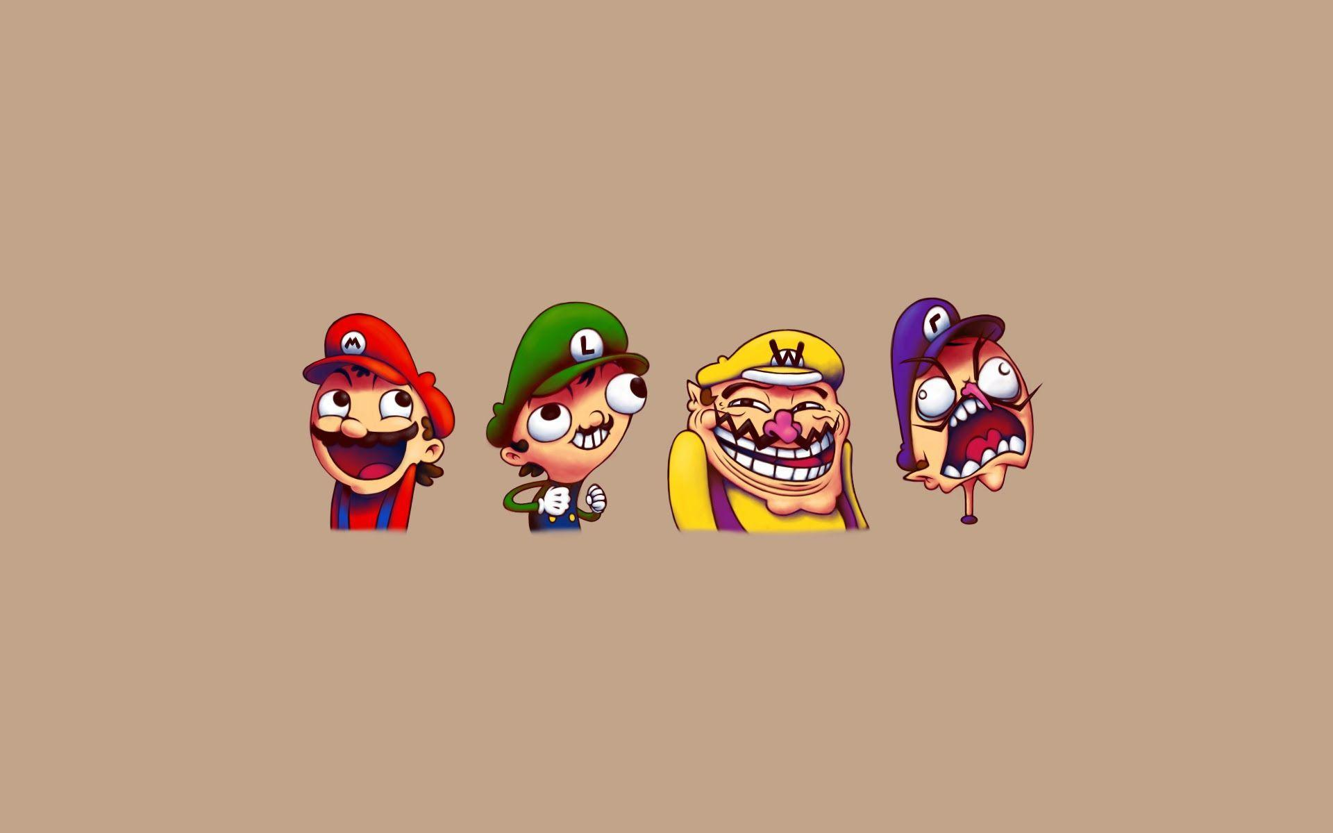 Mario Brothers Troll Face A252 HD Wallpaper