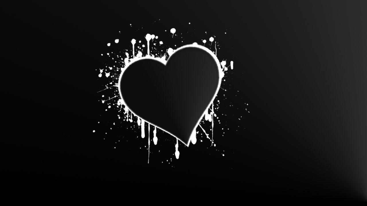 Black and white heart backgrounds fashionplaceface