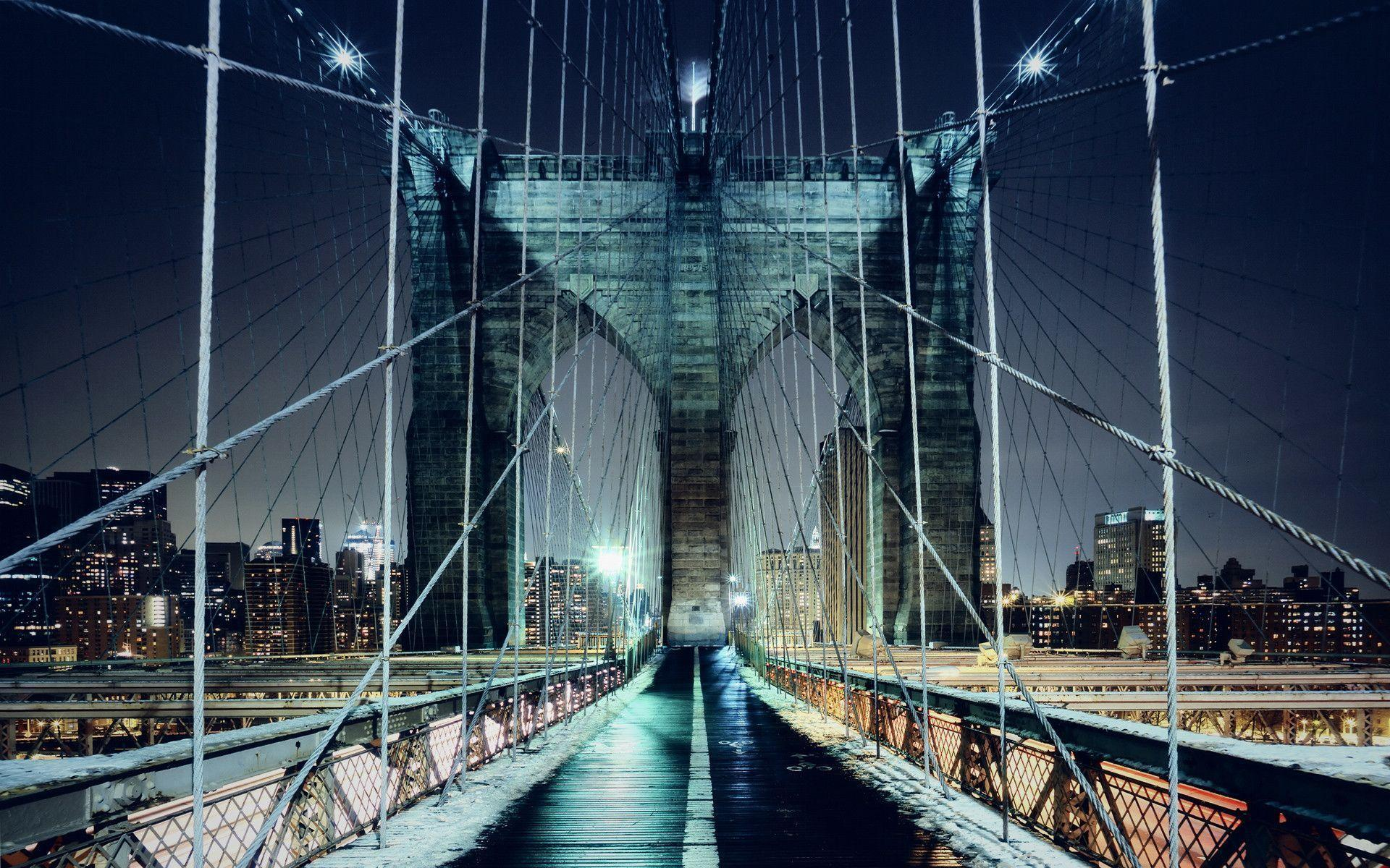 Brooklyn Bridge Walkway Wallpapers