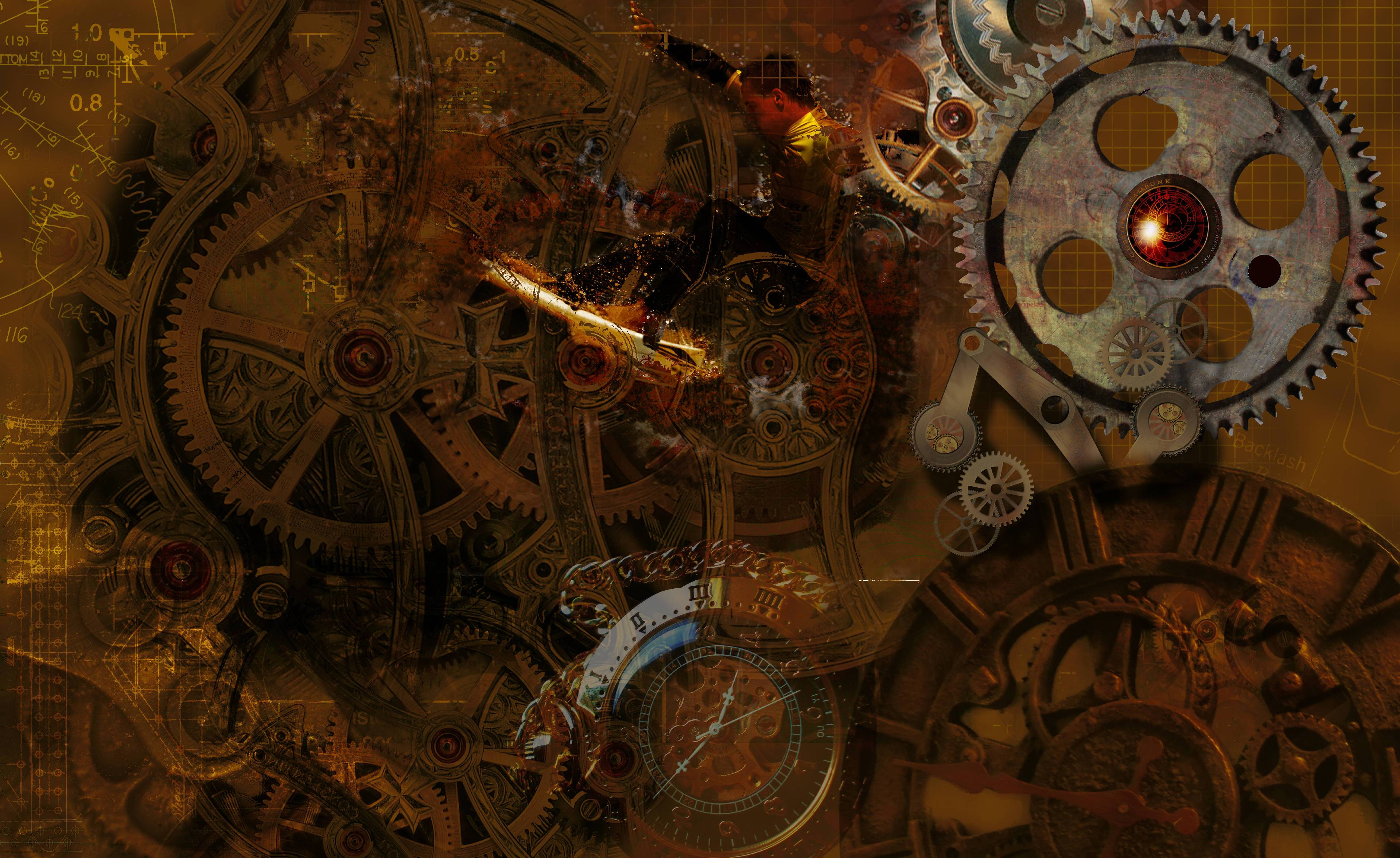 steampunk cogs abstract fantasy - photo #37