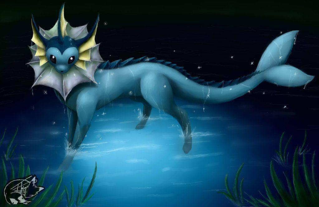 Vaporeon Digital Art