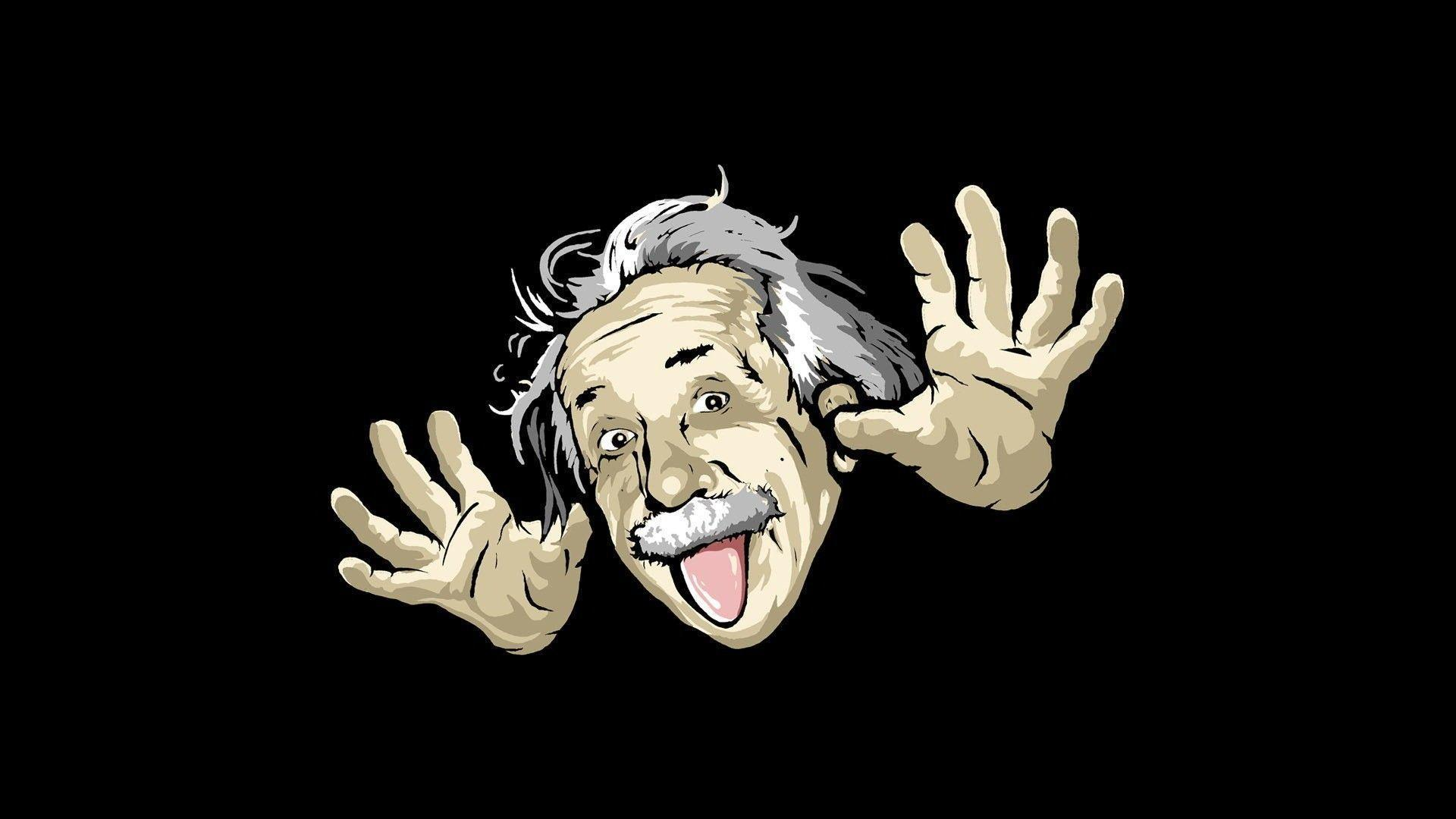 Albert Einstein Funny HD Wallpaper #4437 Wallpaper computer | best ...
