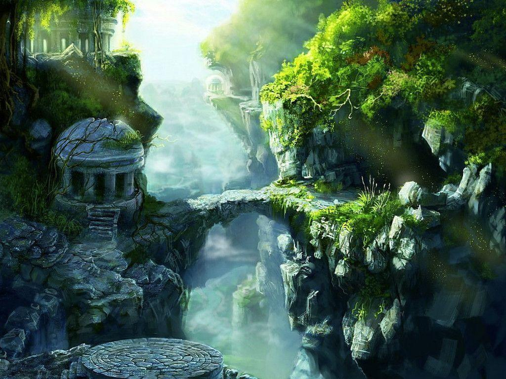 Fantasy land wallpapers wallpaper cave - Fantasy wallpaper bridge ...