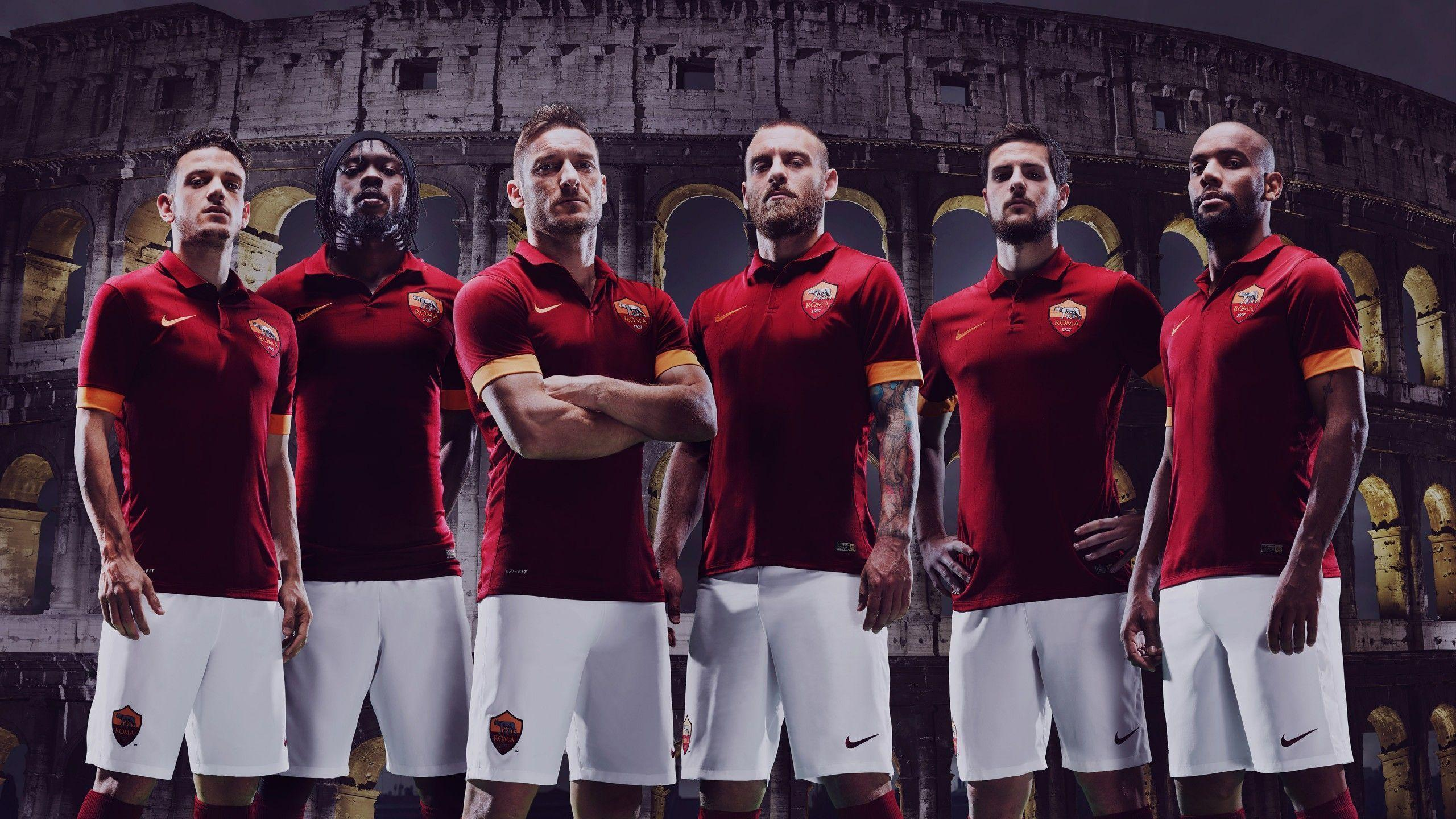 AS Roma 2014 2015 Nike Jersey Home Kit Wallpaper Wide or HD