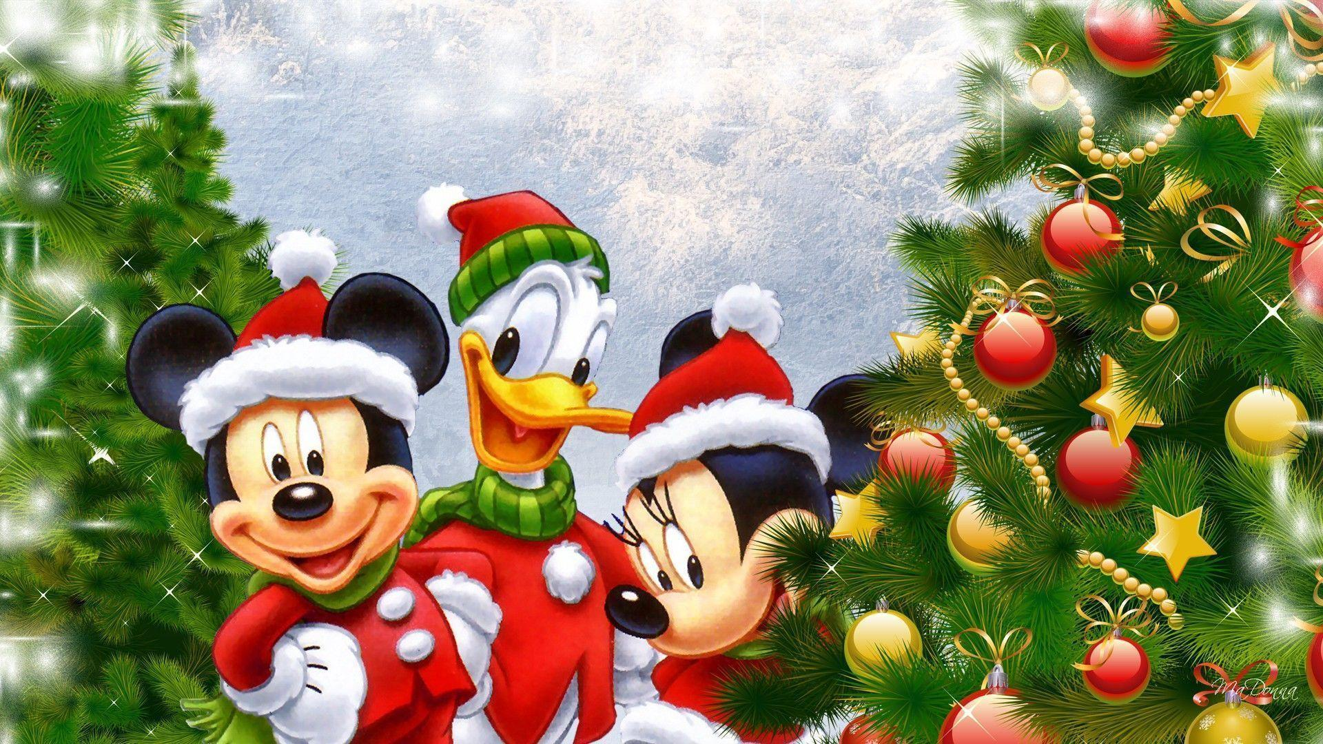 Disney wallpapers at Christmas time all in HD from Donald to mickey