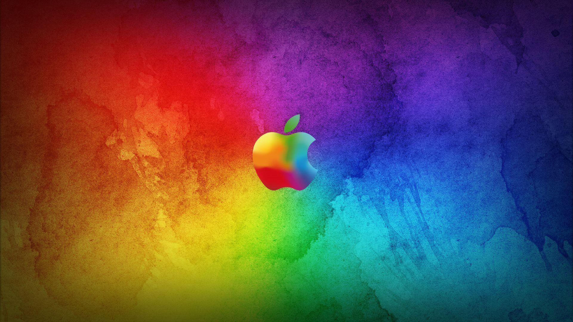 Colorful Apple Logo HD Wallpaper Widescreen #1544 Wallpaper .