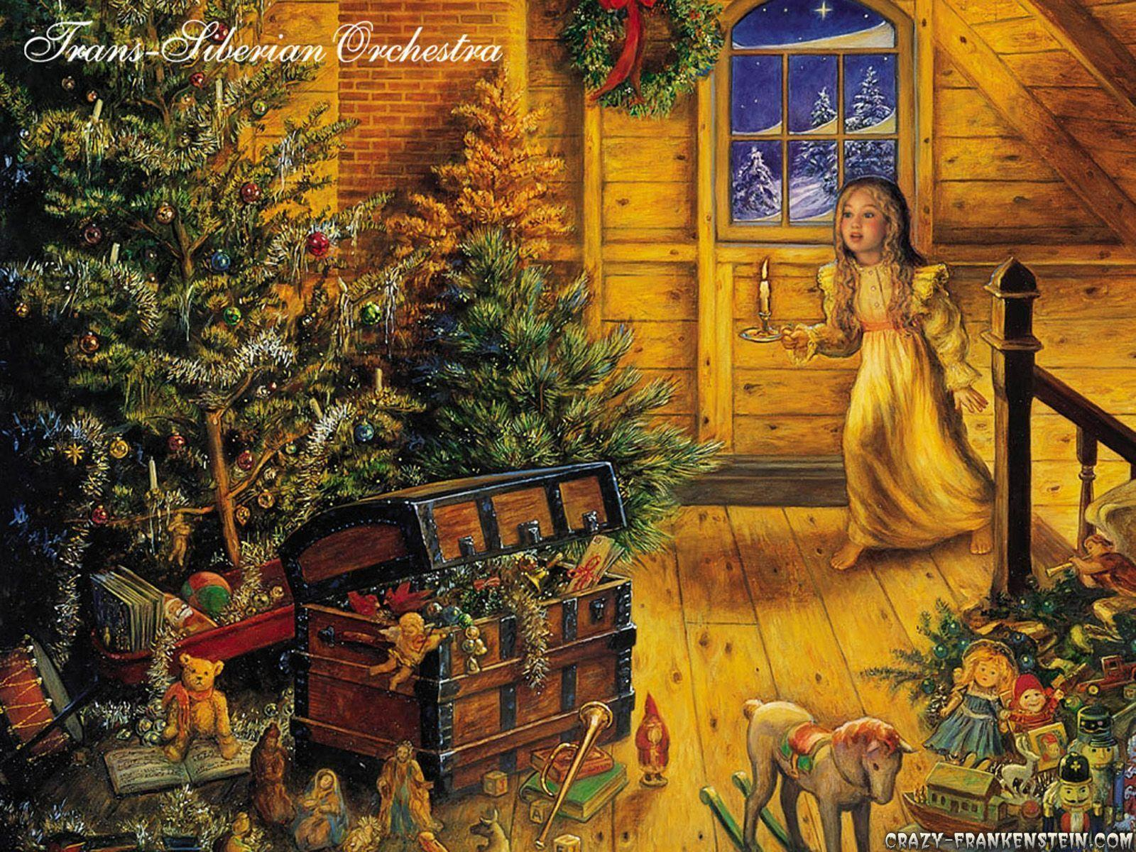 old fashion christmas wallpaper free-#6