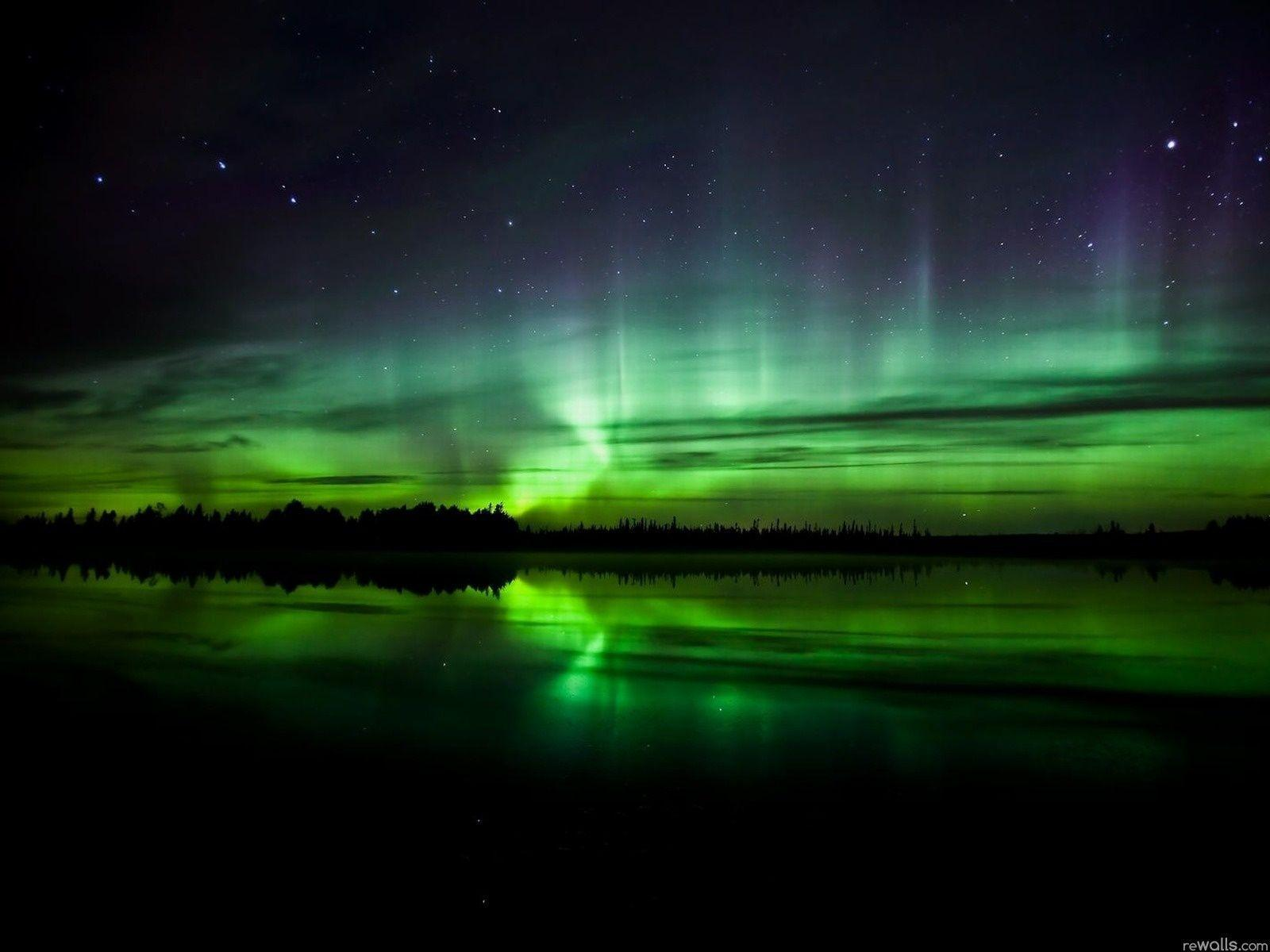 Green Northern Lights Image Wallpapers HD