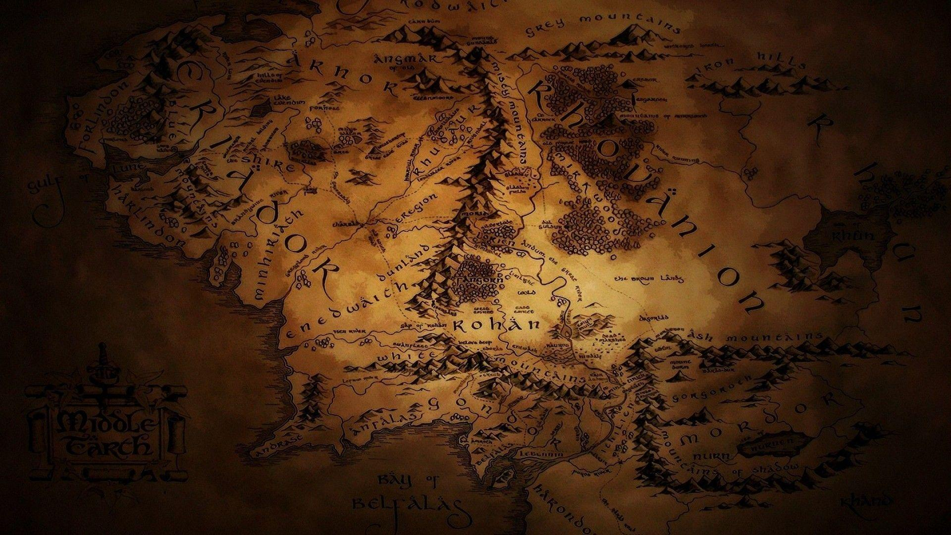 Map of middle earth wallpapers wallpaper cave - Middle earth iphone wallpaper ...