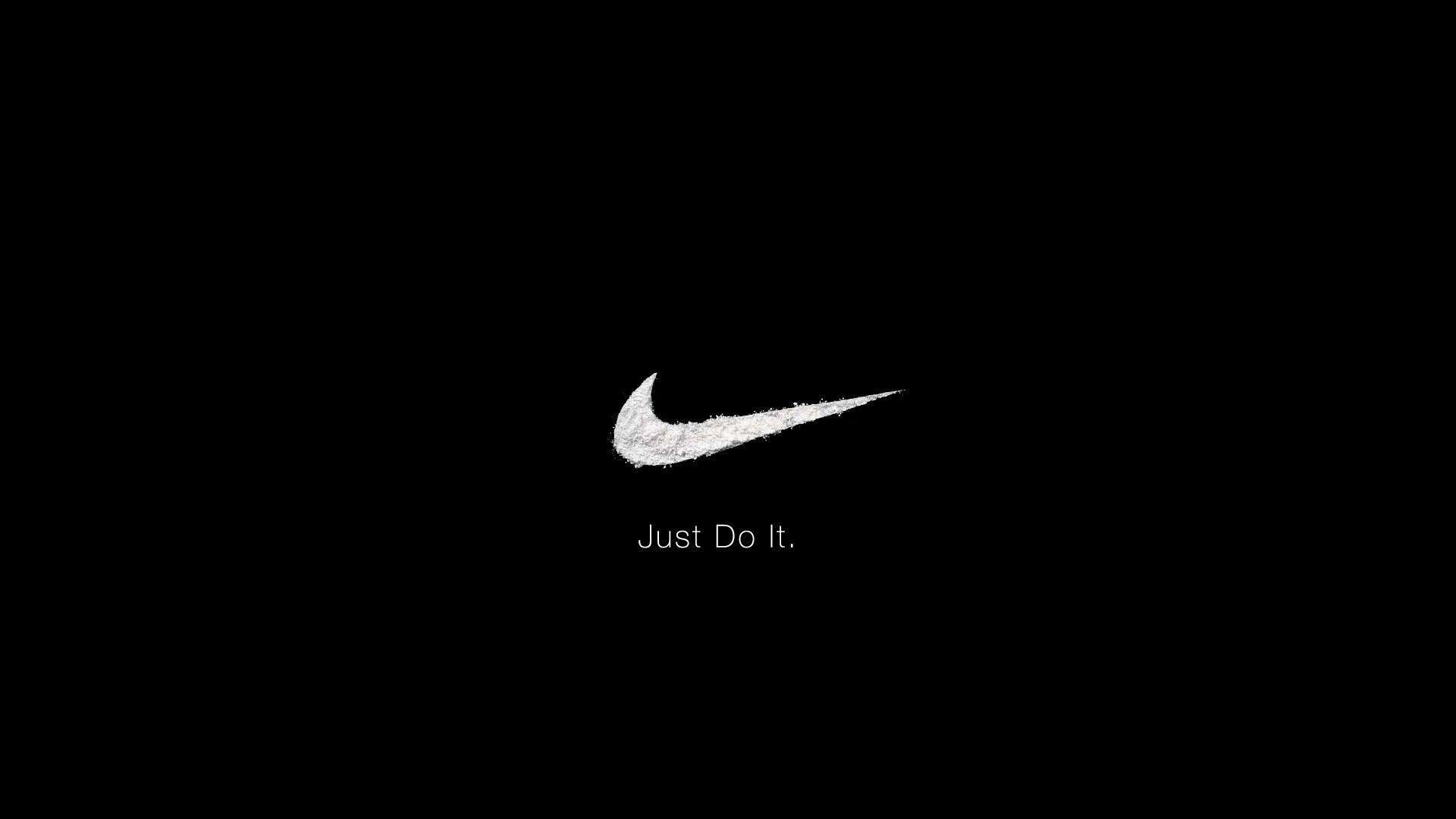 Nike Logo Black HD Wallpaper Background