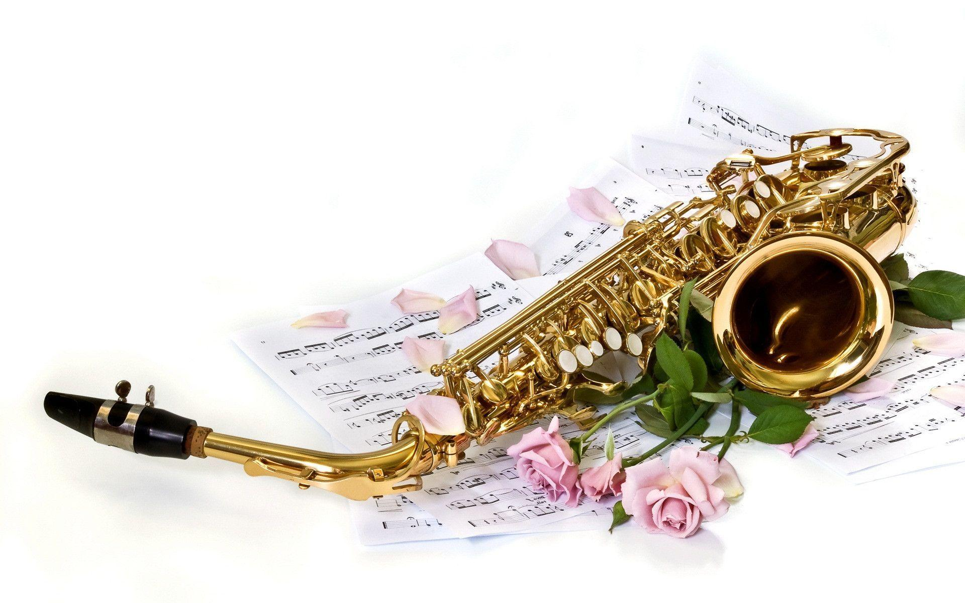 Music Saxophone Beautiful Wallpaper | Queenwallpaper.
