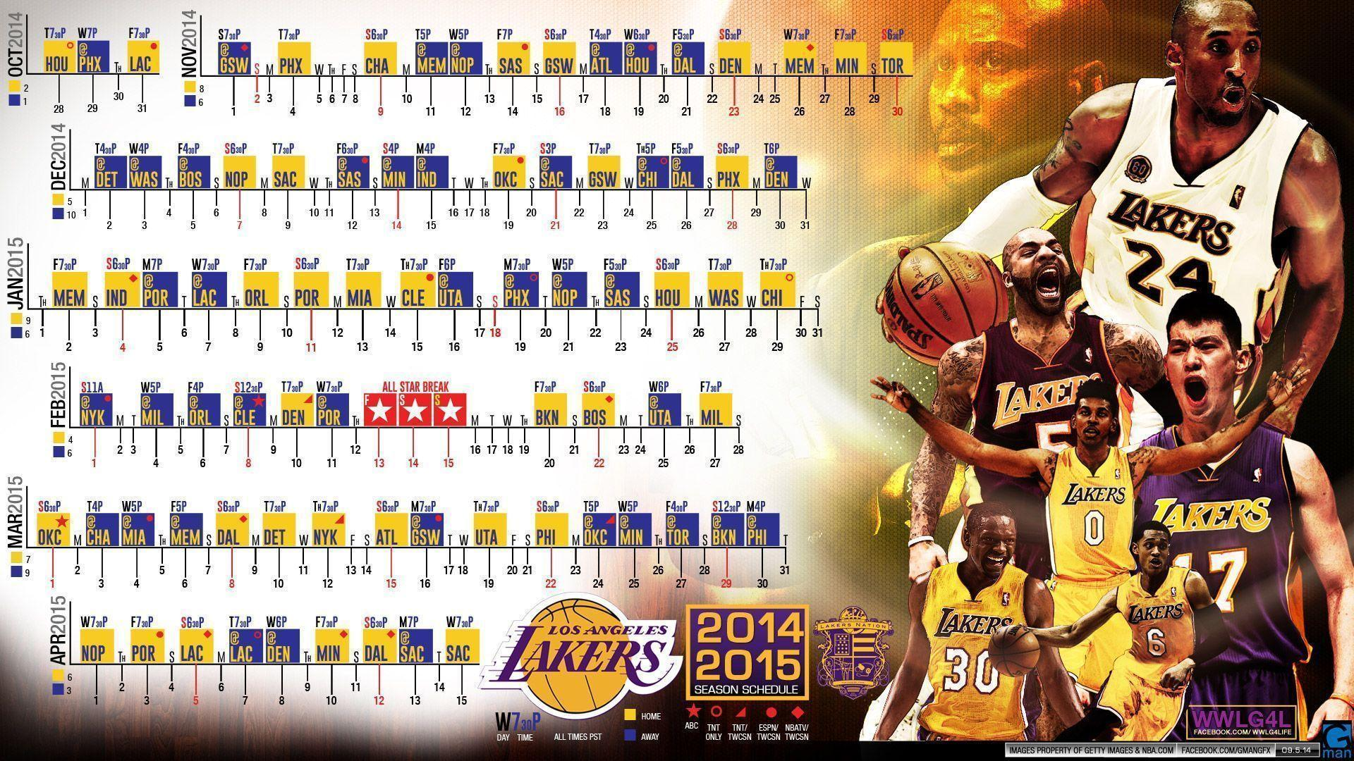 Came across a schedule wallpapers for the 2014