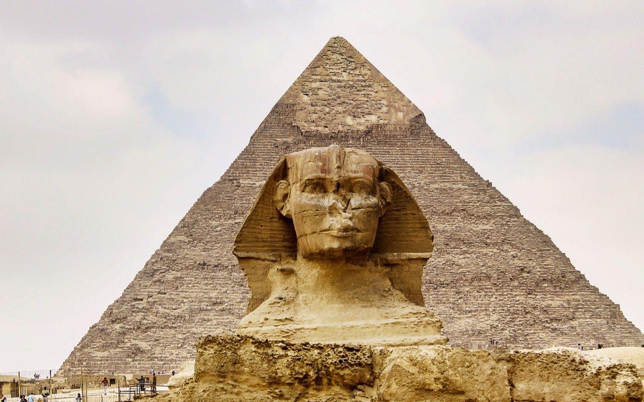 Cairo, Sphinx And The Great Pyramid